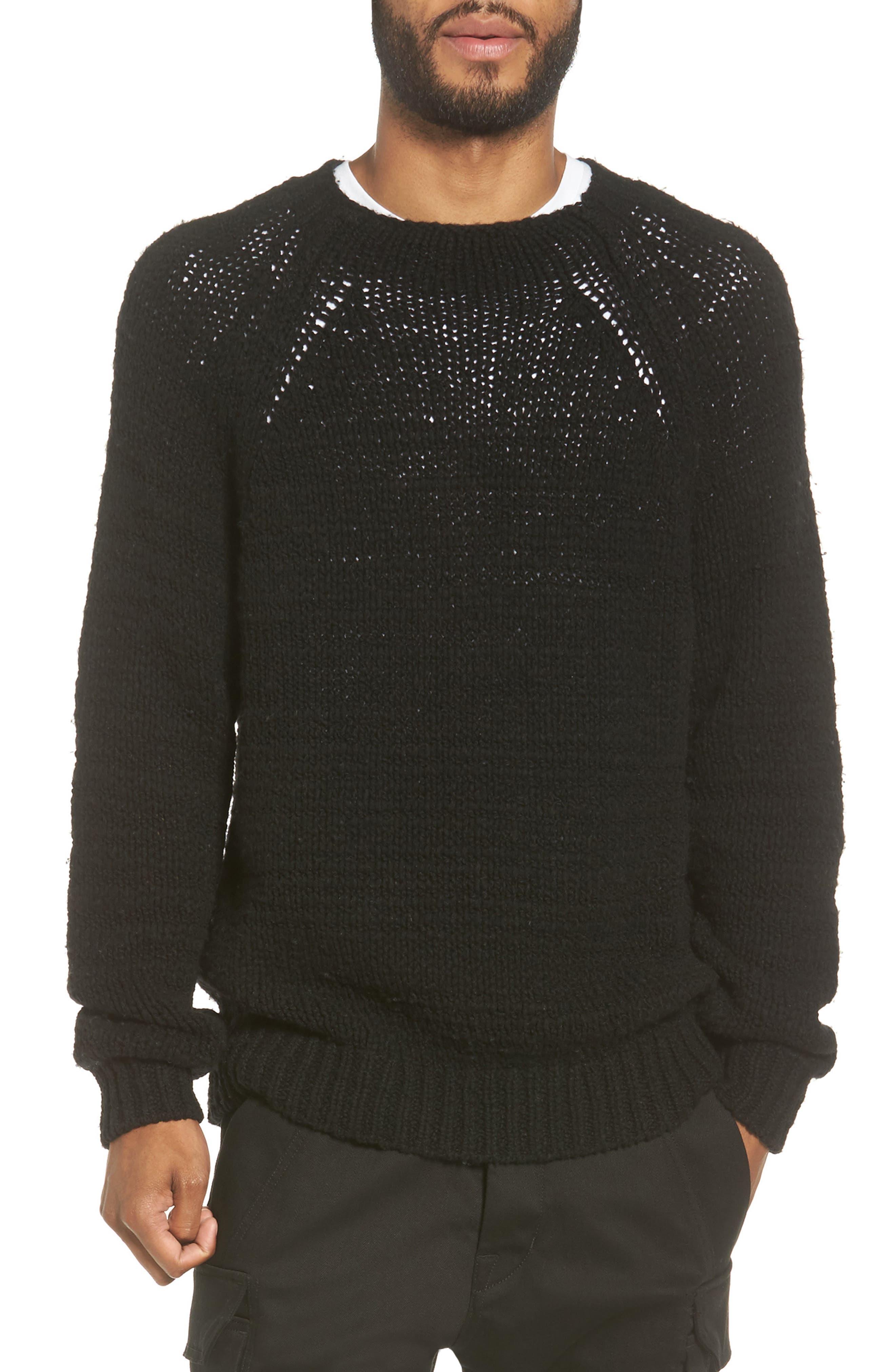 Raglan Sweater,                         Main,                         color, Black