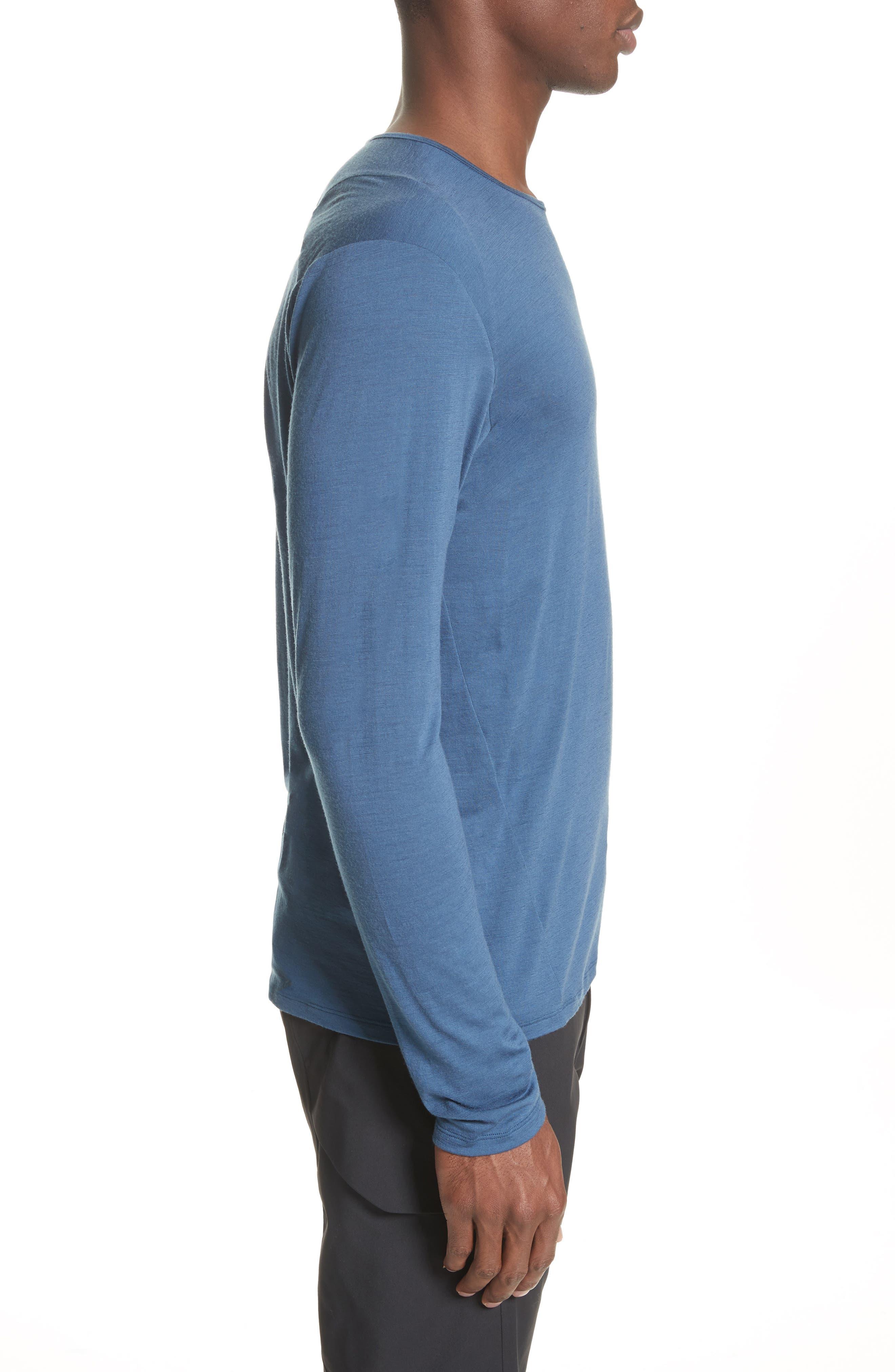 Frame Merino Wool T-Shirt,                             Alternate thumbnail 3, color,                             Navy