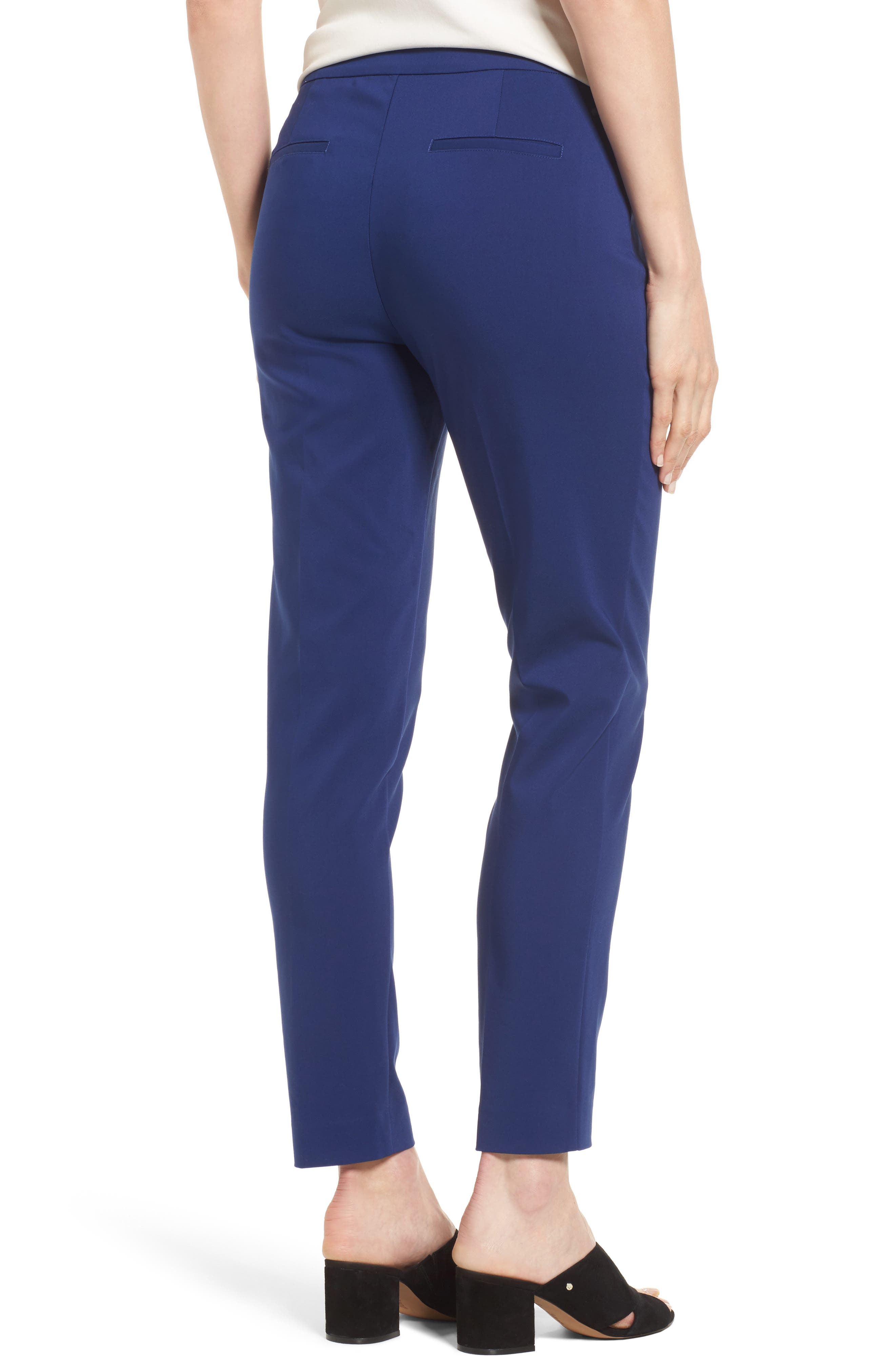 Jackie Pull-On Ankle Pants,                             Alternate thumbnail 2, color,                             Blue Depths