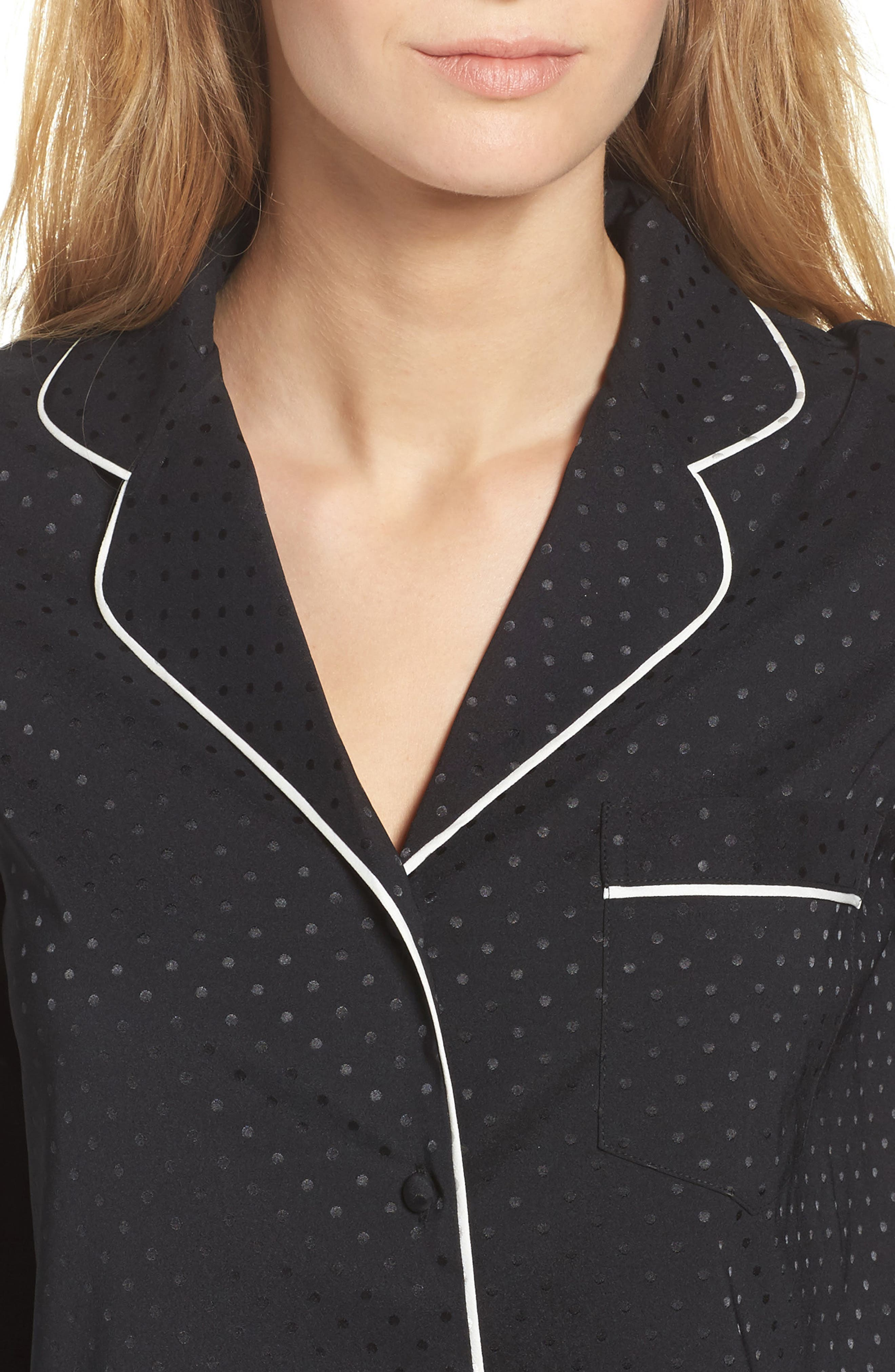 crop pajamas,                             Alternate thumbnail 5, color,                             Black