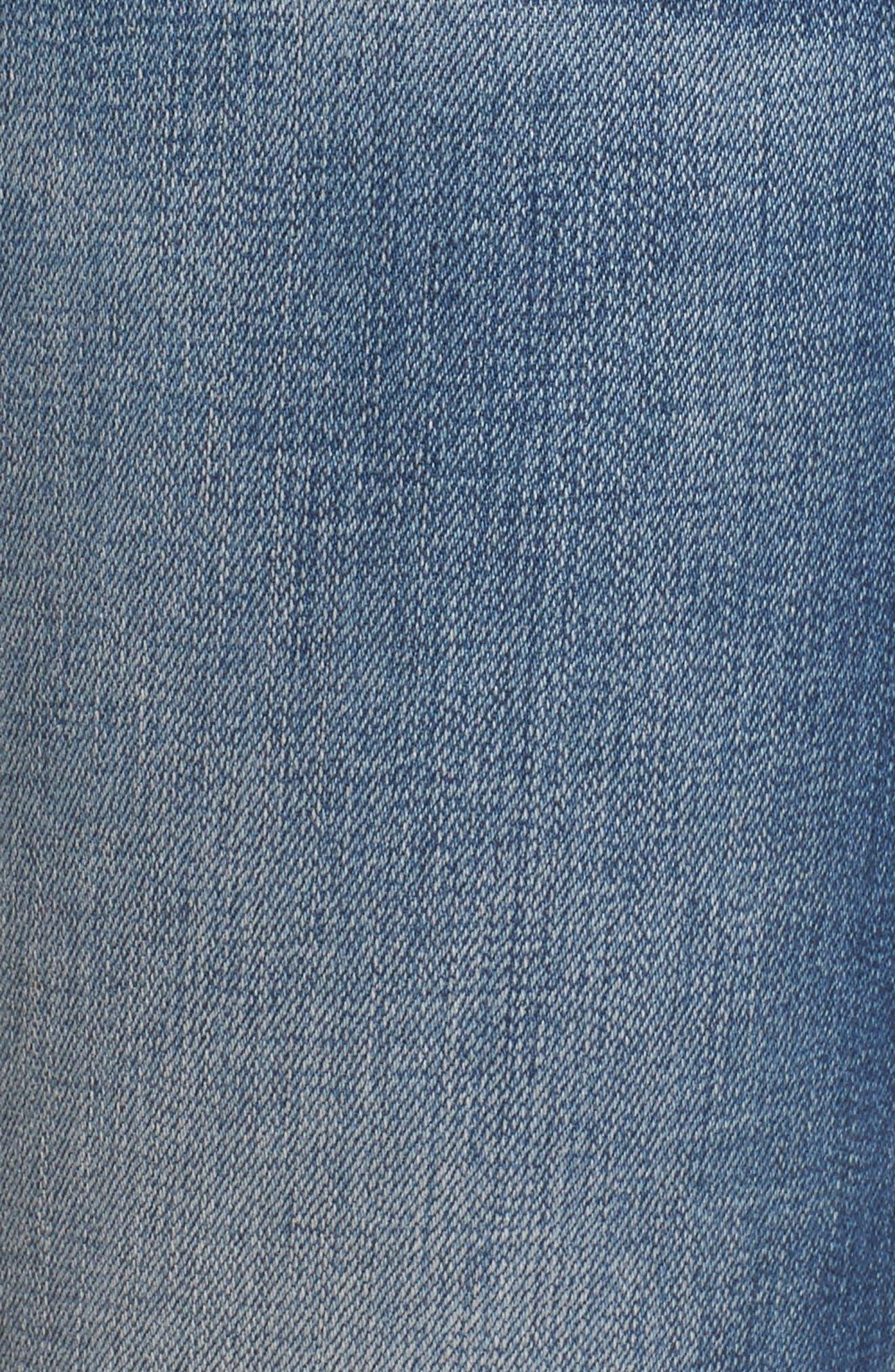 Alternate Image 5  - SLINK Jeans Frayed Hem Crop Jeans (Caralyn)