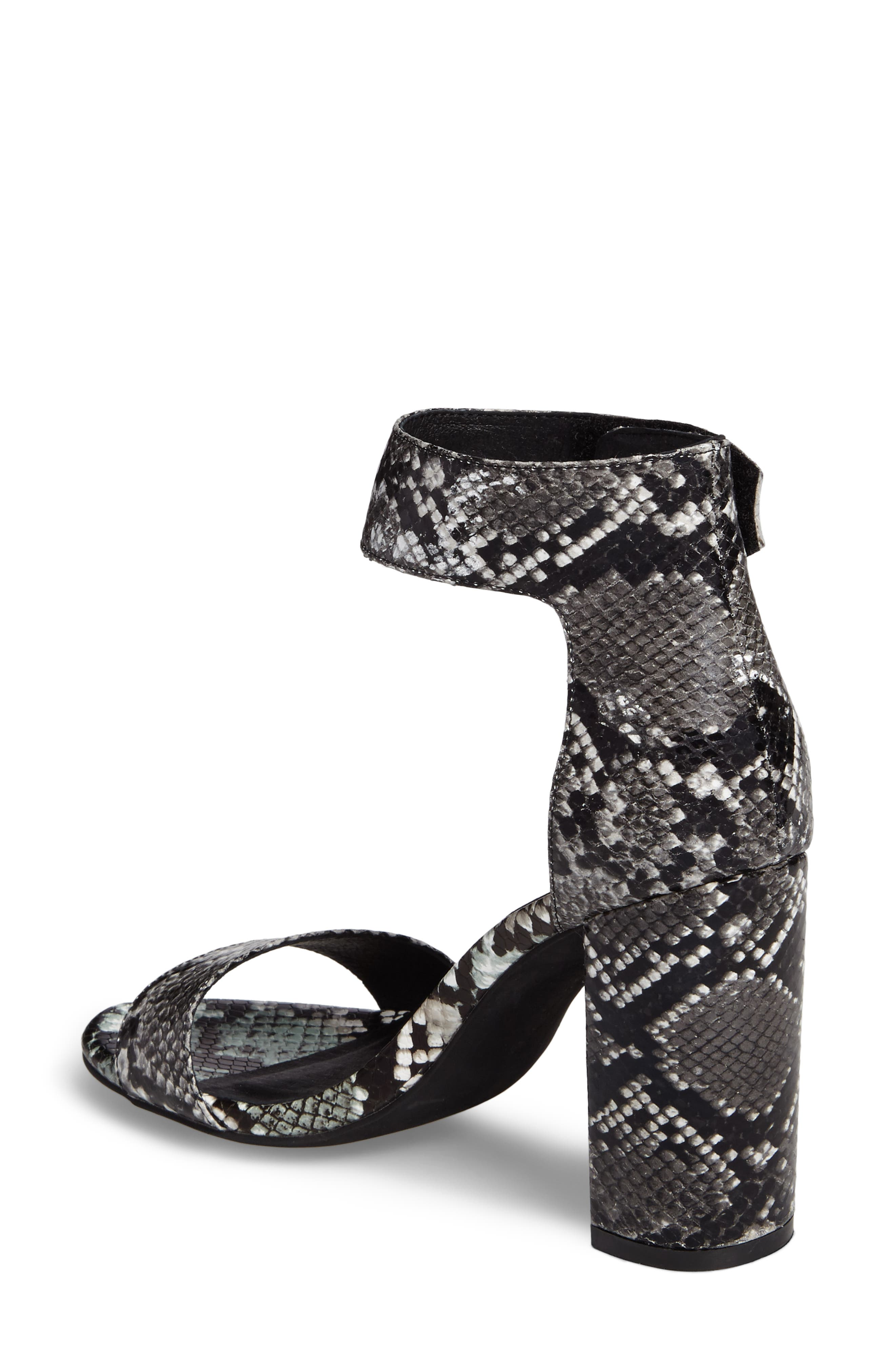 'Lindsay' Ankle Strap Sandal,                             Alternate thumbnail 2, color,                             Black Grey Snake