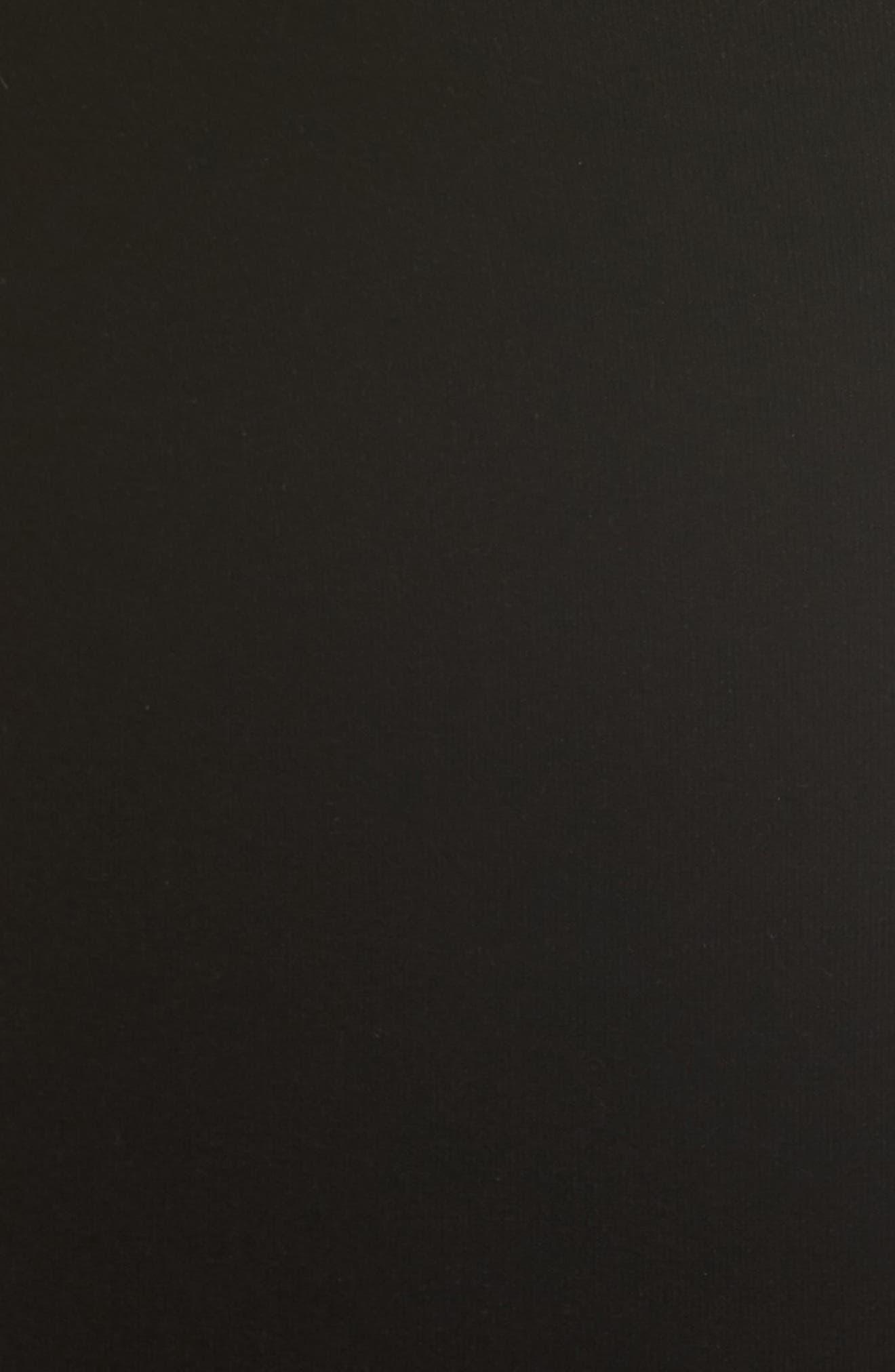 Contrast Lined Bell Sleeve Sheath Dress,                             Alternate thumbnail 5, color,                             Black/ Cherry