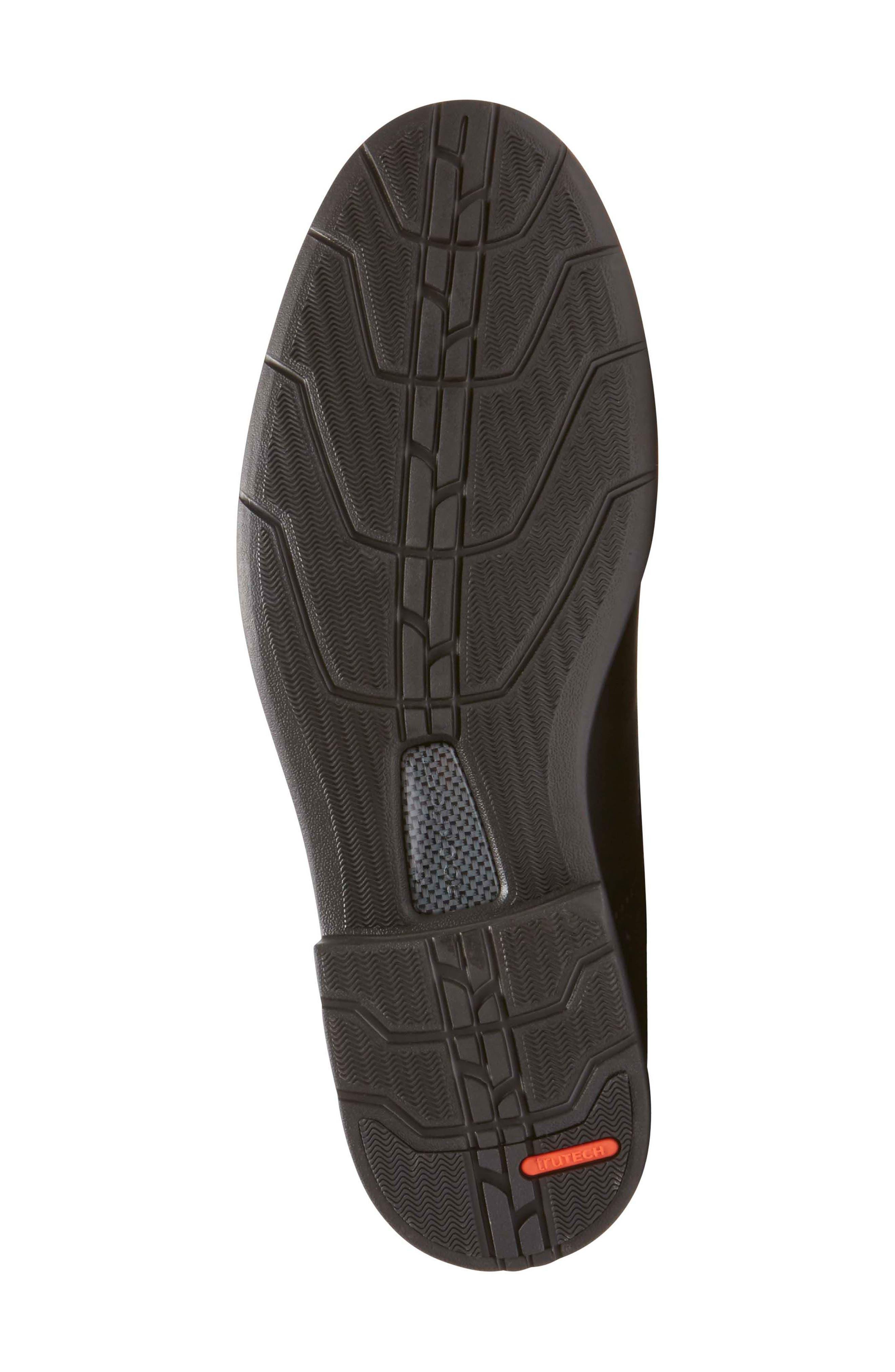 Total Motion Classic Dress Cap Toe Derby,                             Alternate thumbnail 6, color,                             Black Leather