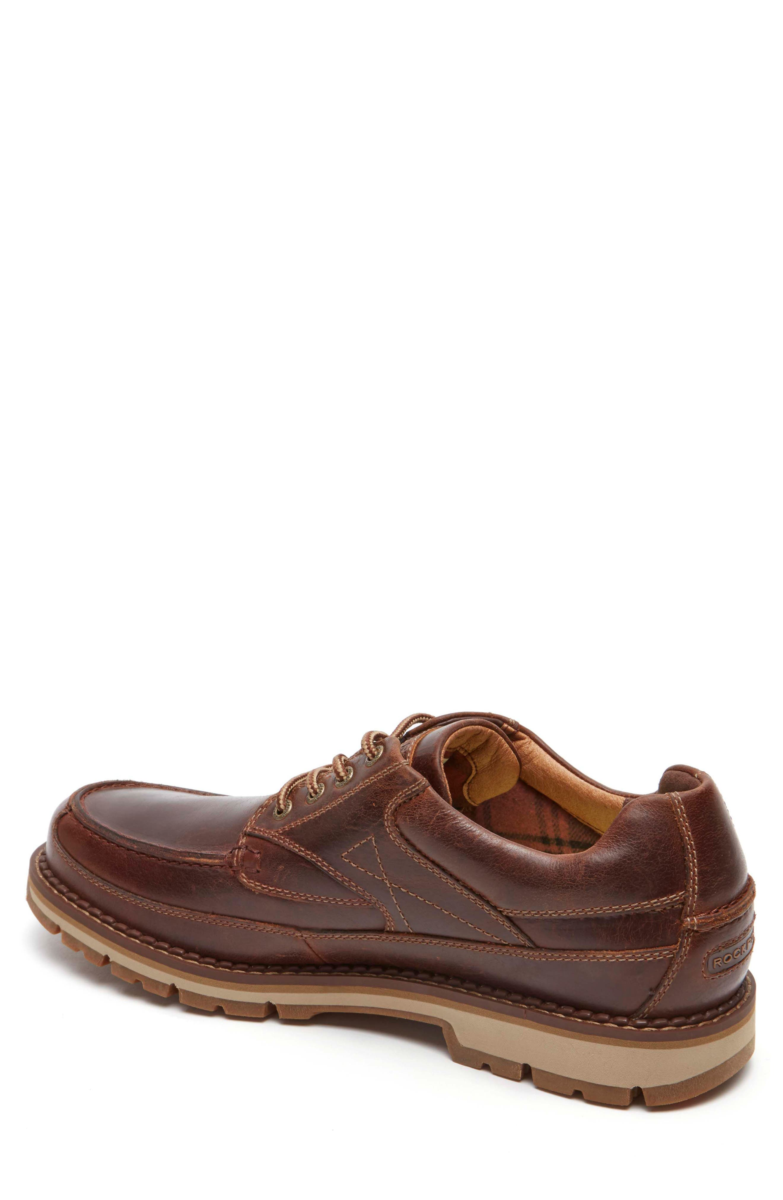 Centry Moc Toe Derby,                             Alternate thumbnail 2, color,                             Brown Leather