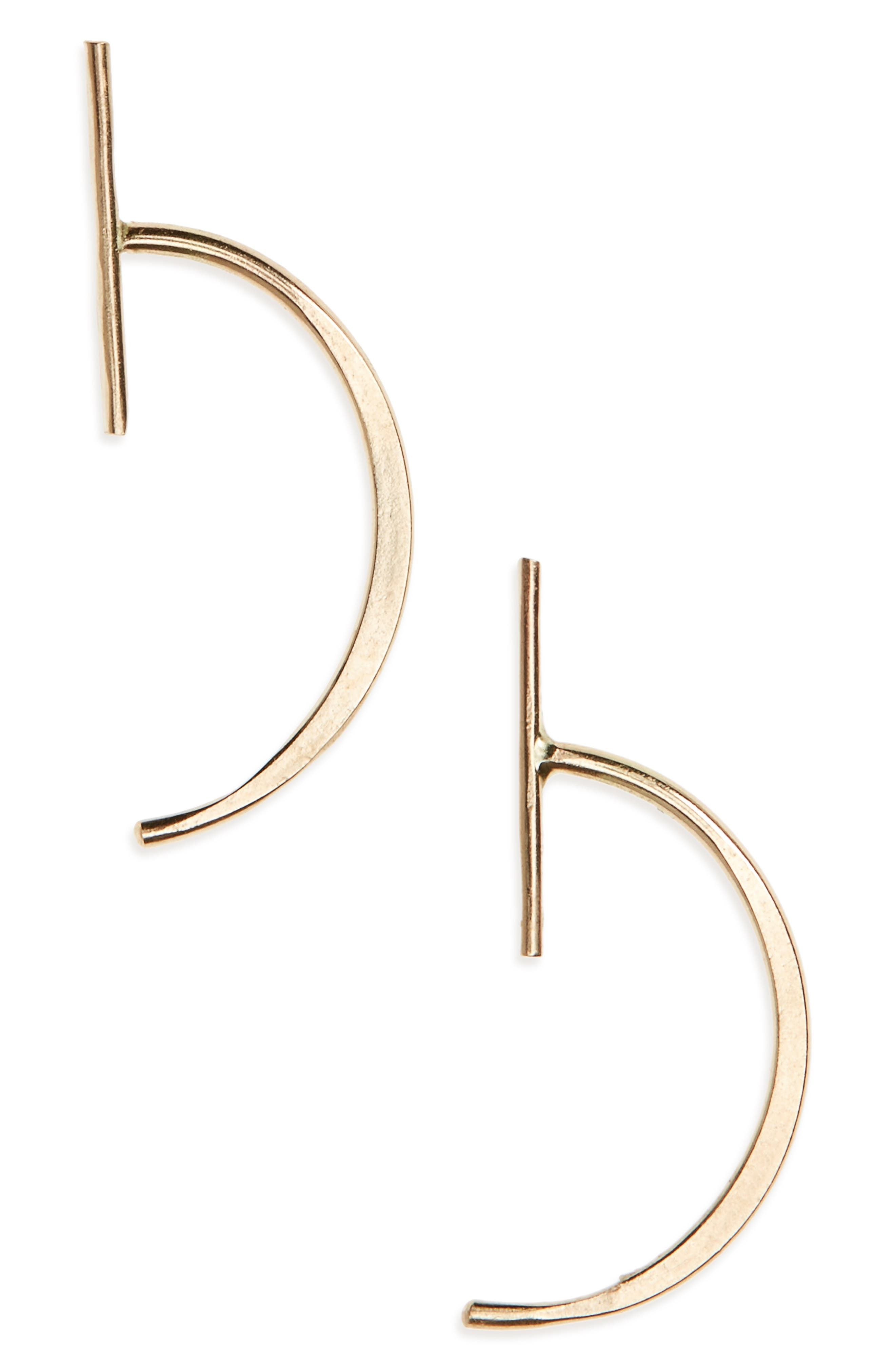 Melissa Joy Manning Bar Threader Stud Earrings