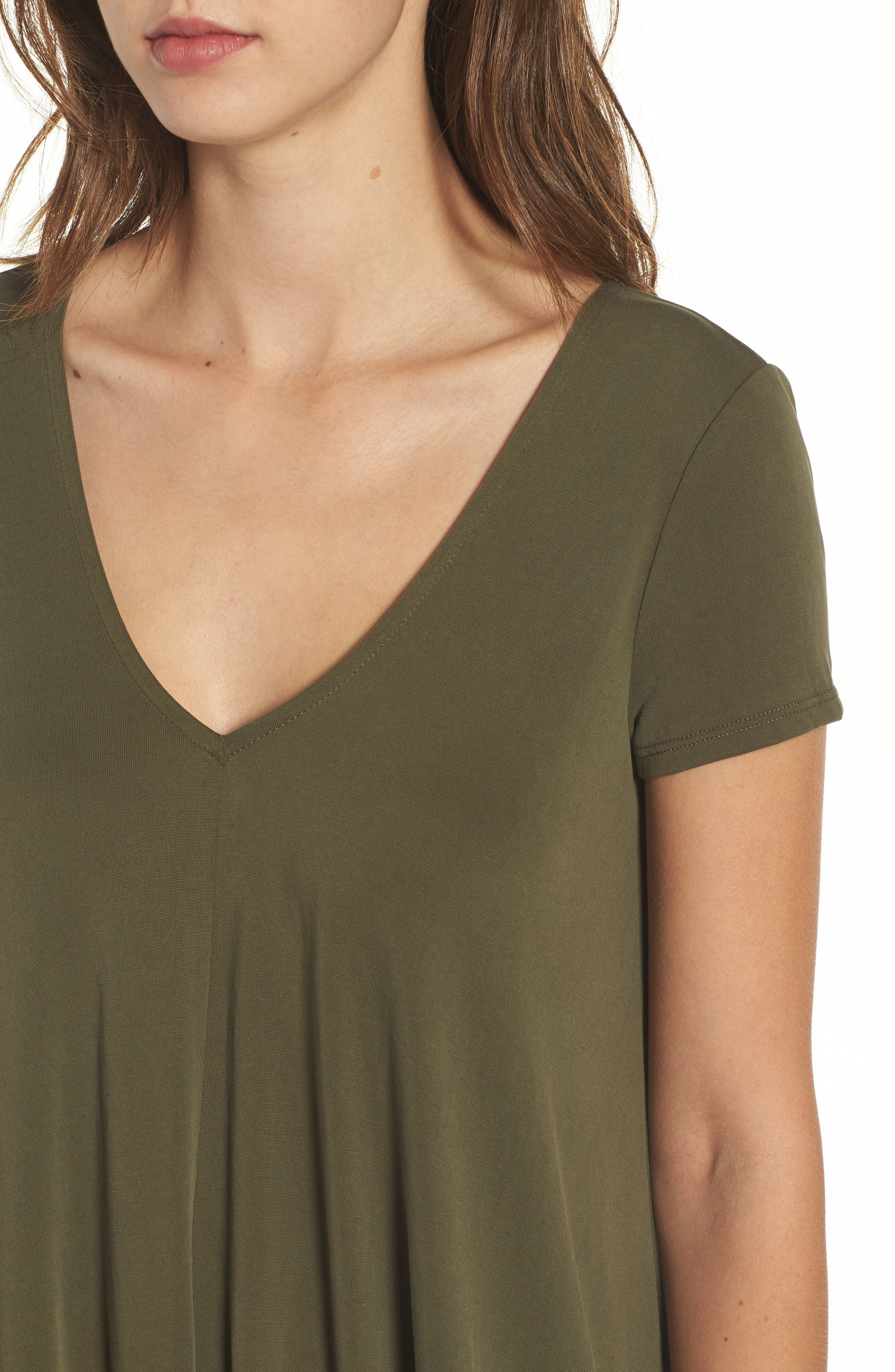 T-Back Swing Dress,                             Alternate thumbnail 4, color,                             Olive