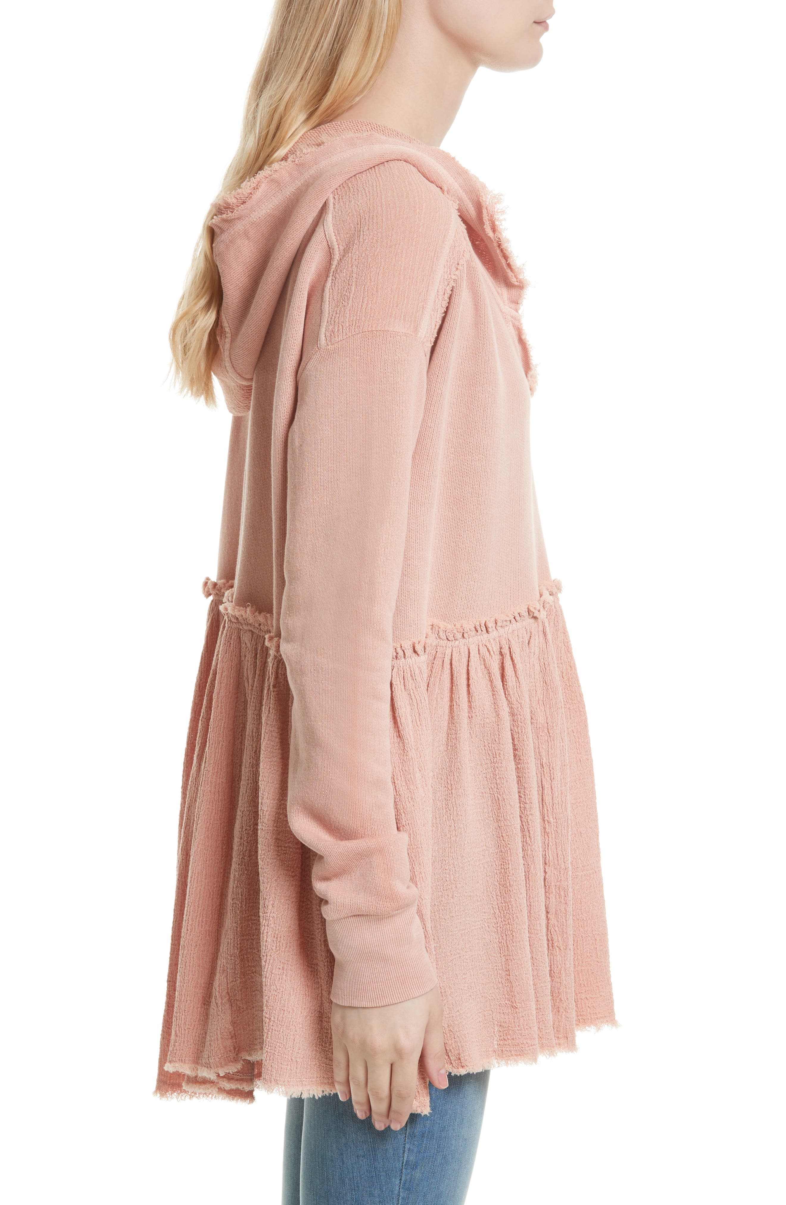 Summer Dreams Hooded Pullover,                             Alternate thumbnail 3, color,                             Rose