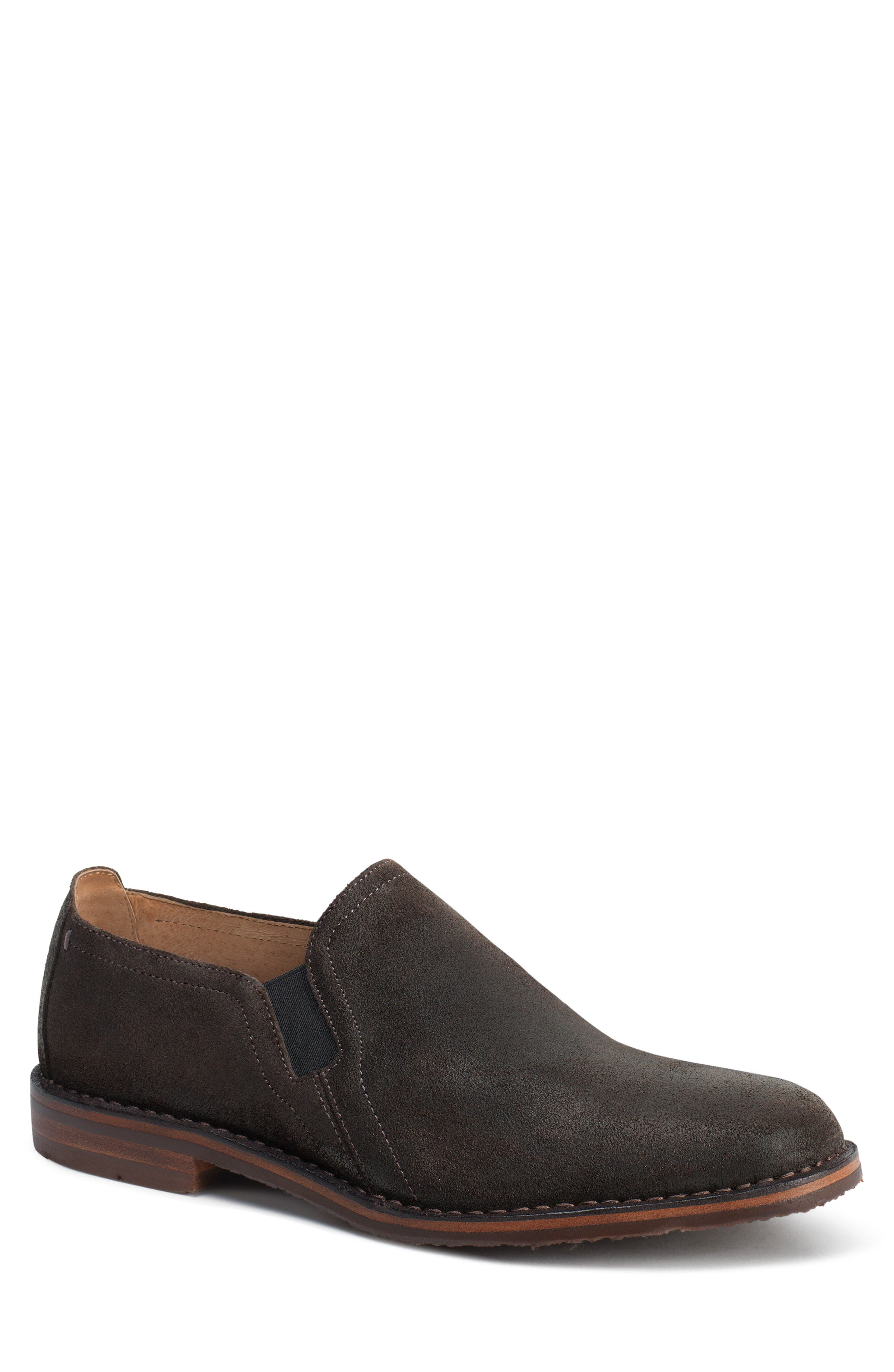 'Blaine' Venetian Loafer,                         Main,                         color, Gray Waxed Suede
