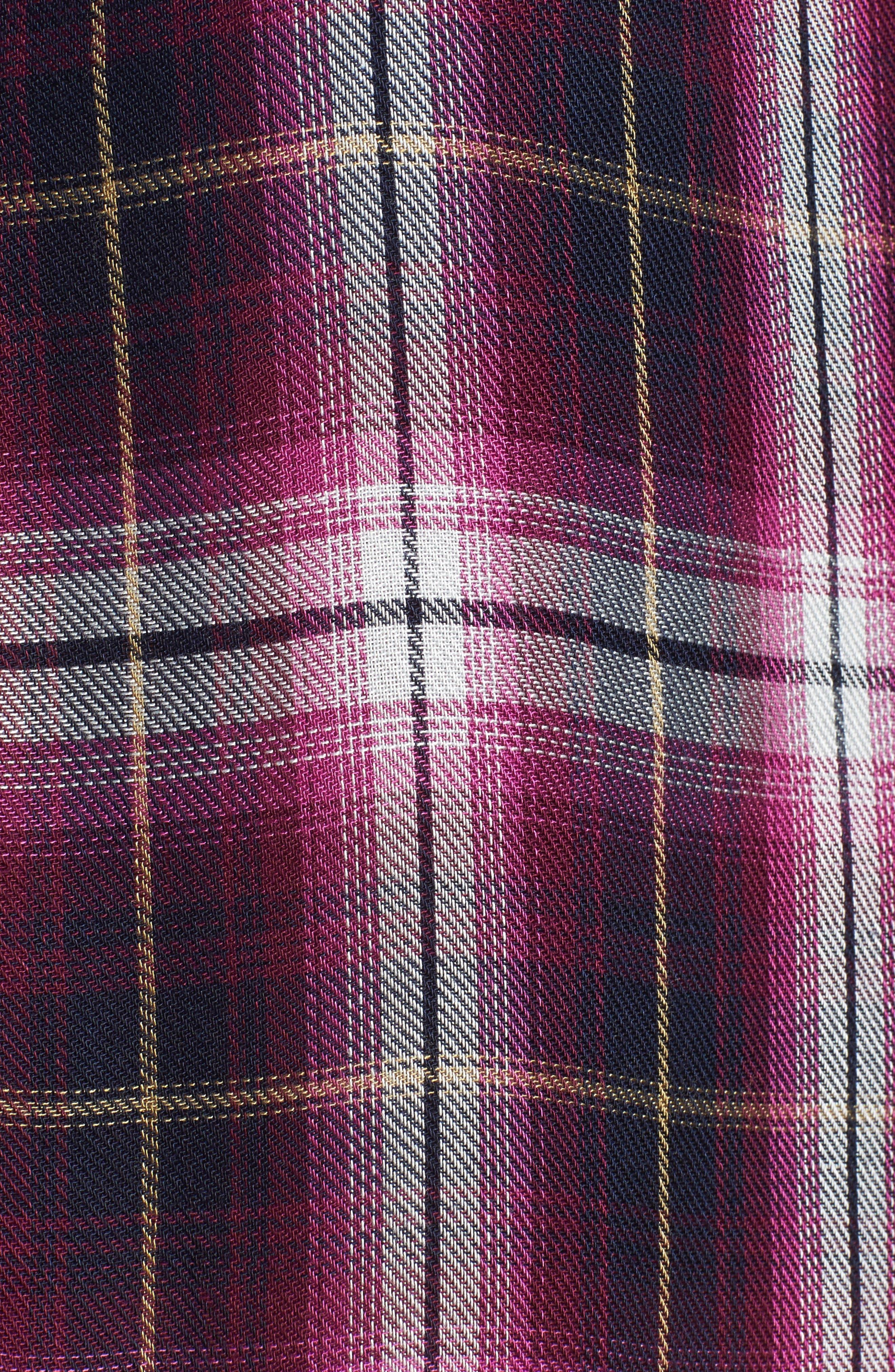 Alternate Image 5  - KUT from the Kloth Misa Drop Shoulder Plaid Top