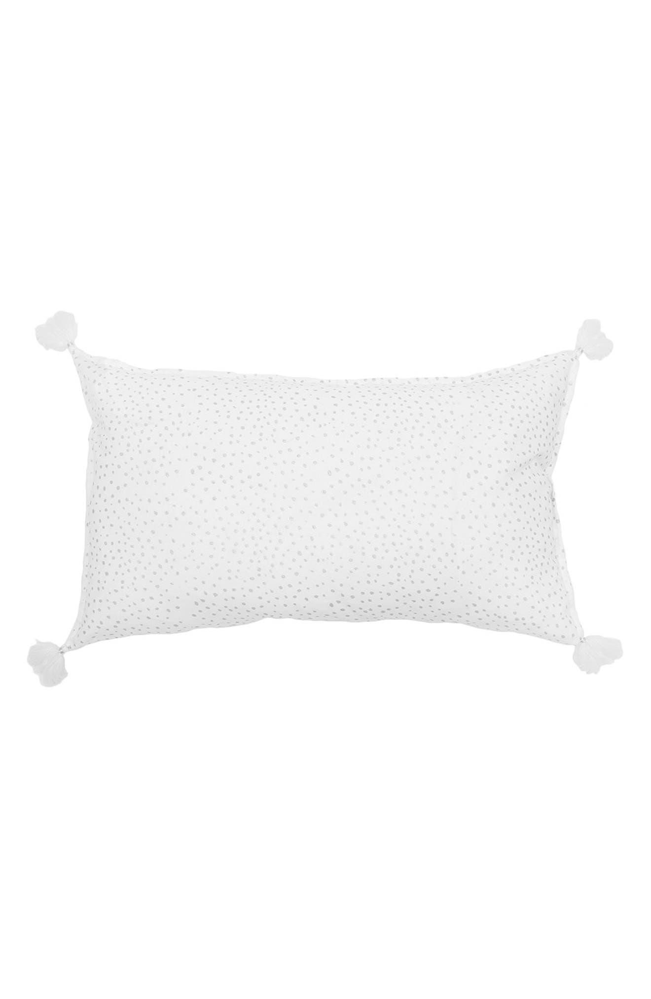 Dot Accent Pillow,                             Main thumbnail 1, color,                             Silver