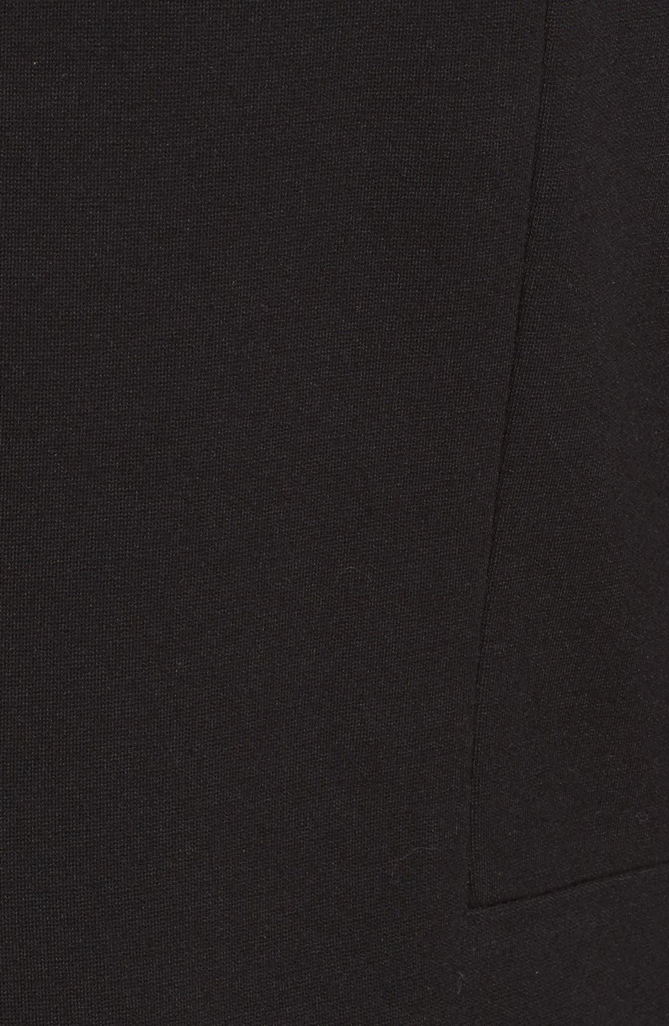 Marissa Punto Milano Dress,                             Alternate thumbnail 5, color,                             Black