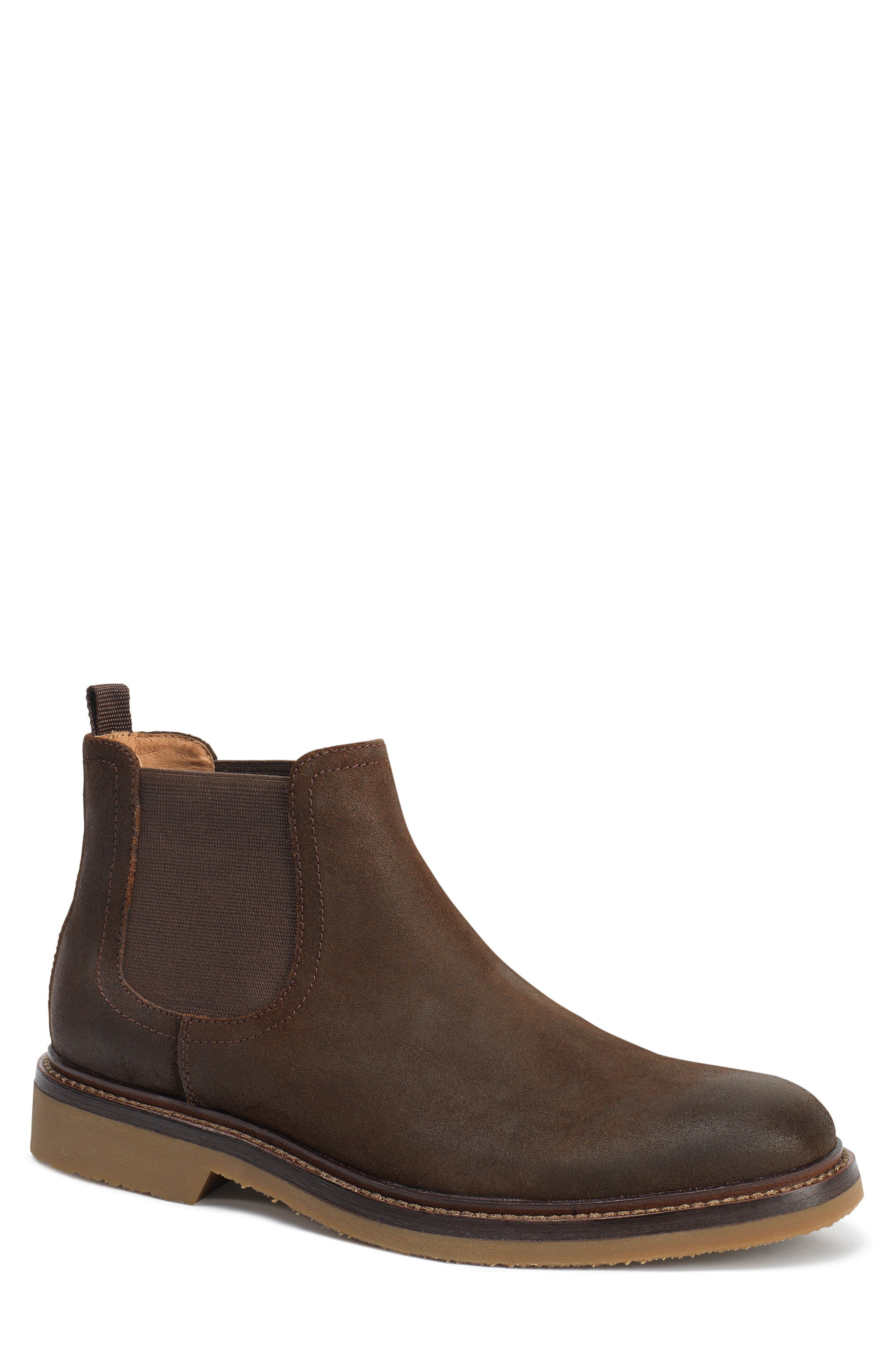 Carter Chelsea Boot,                         Main,                         color, Snuff Waxed Suede