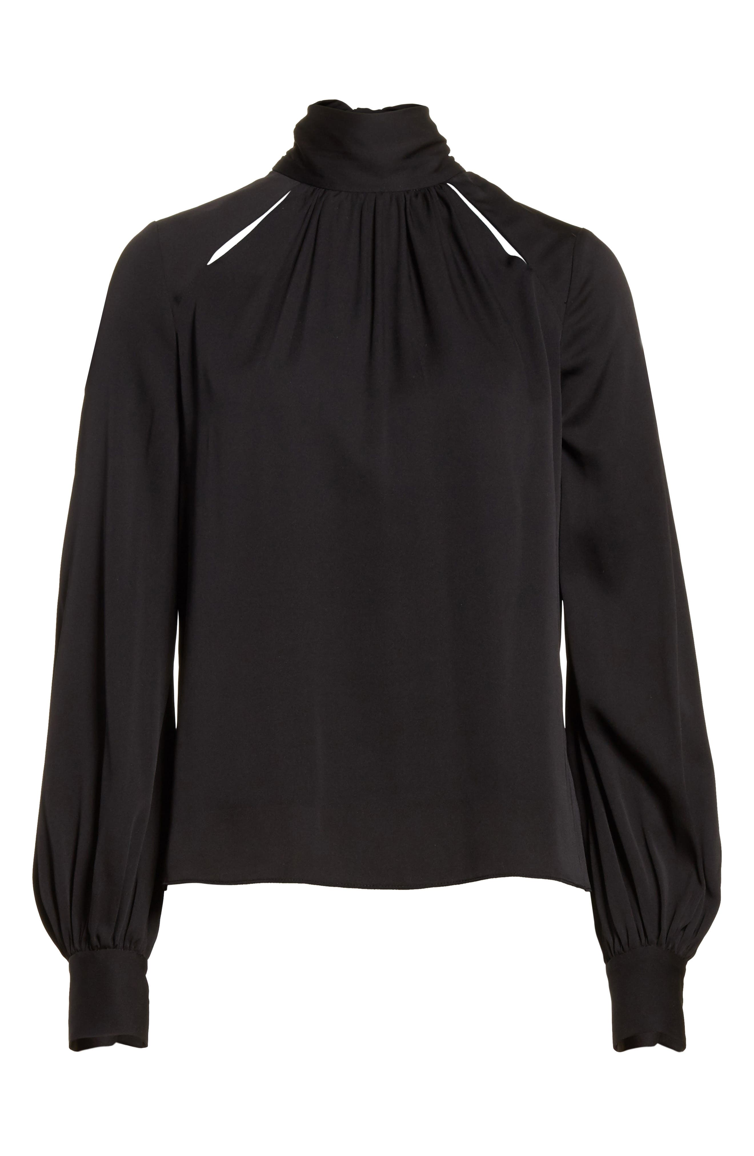 Alternate Image 6  - Milly Simona Tie Back Stretch Silk Blouse