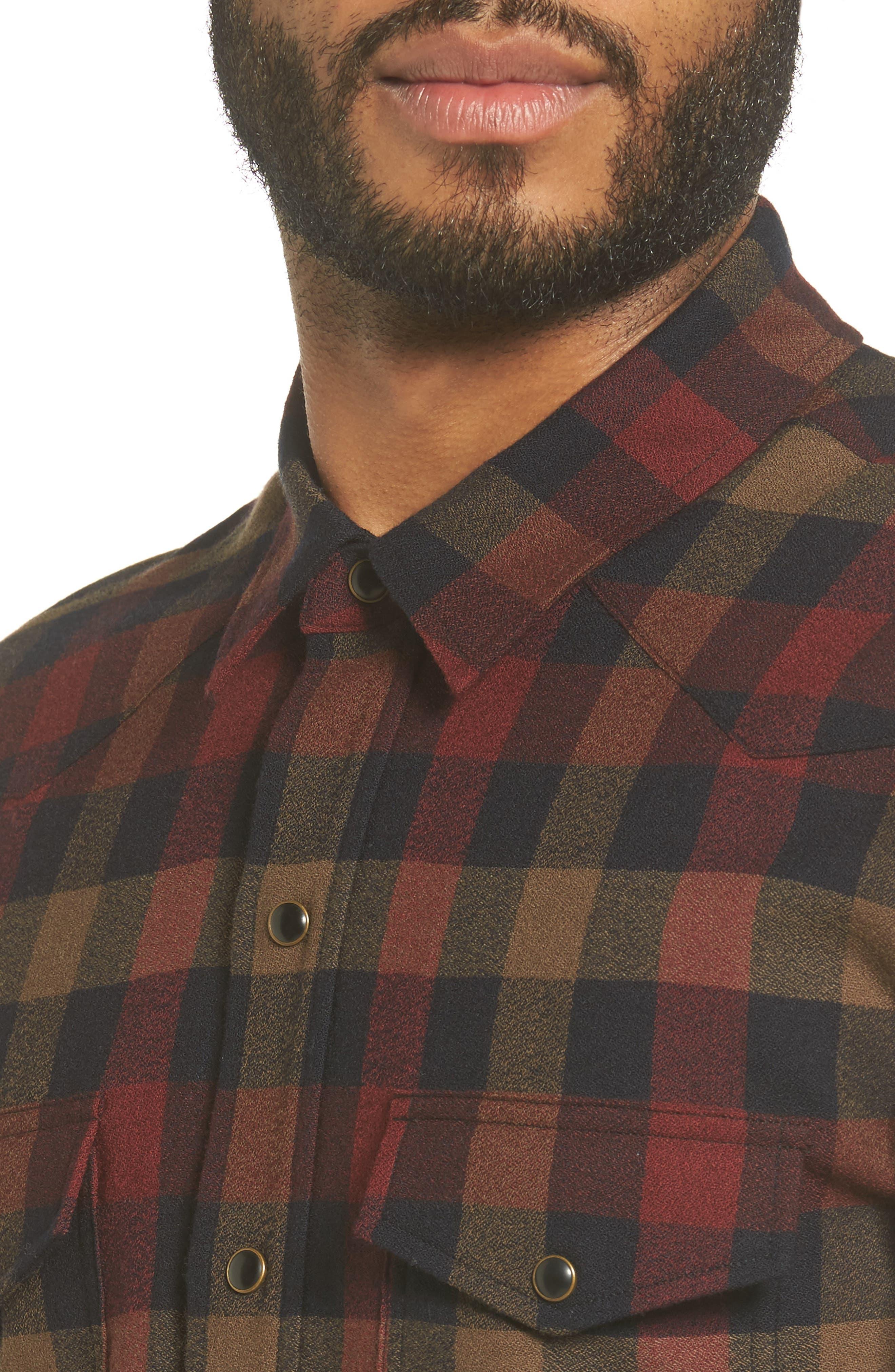 Alternate Image 4  - Vince Regular Fit Buffalo Check Sport Shirt