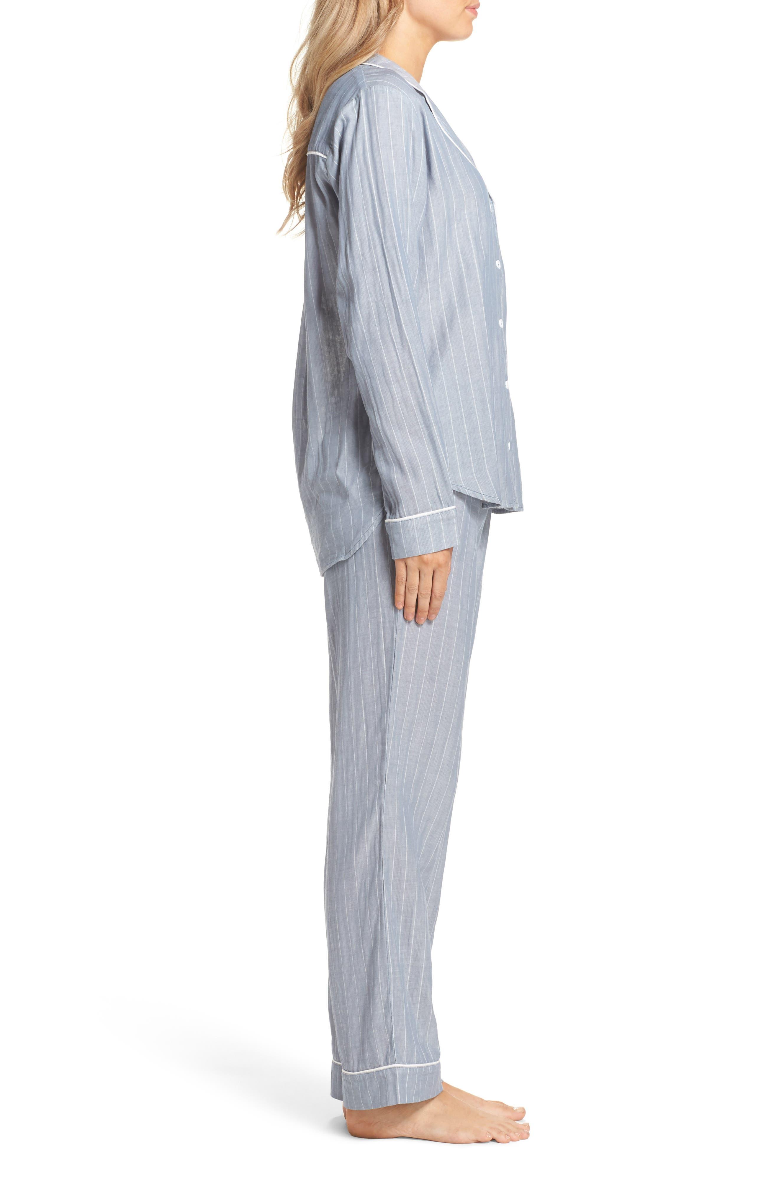Alternate Image 3  - UGG® Raven Stripe Pajamas