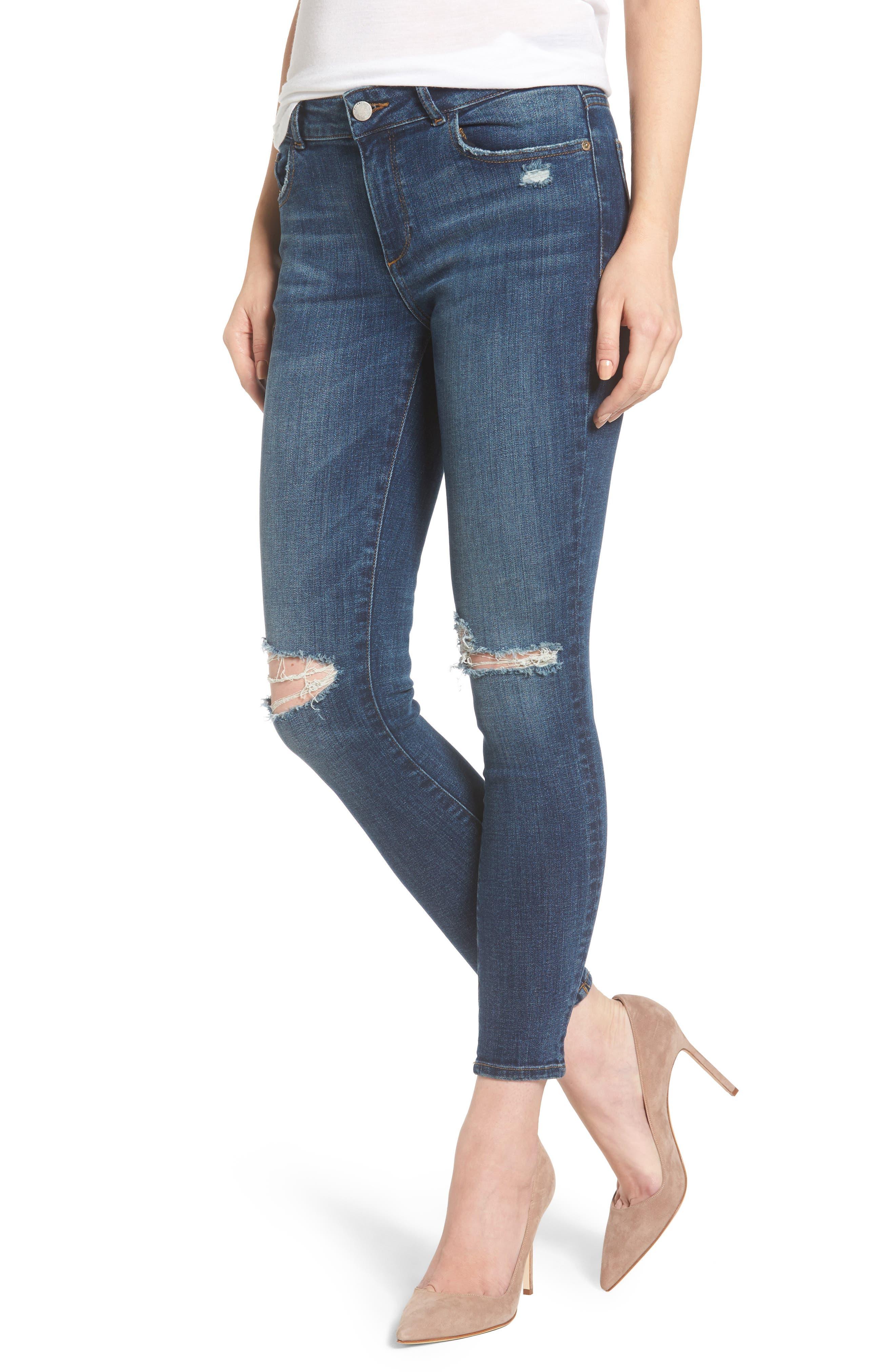 DL1961 Margaux Instasculpt Ankle Skinny Jeans (Fleetwood)