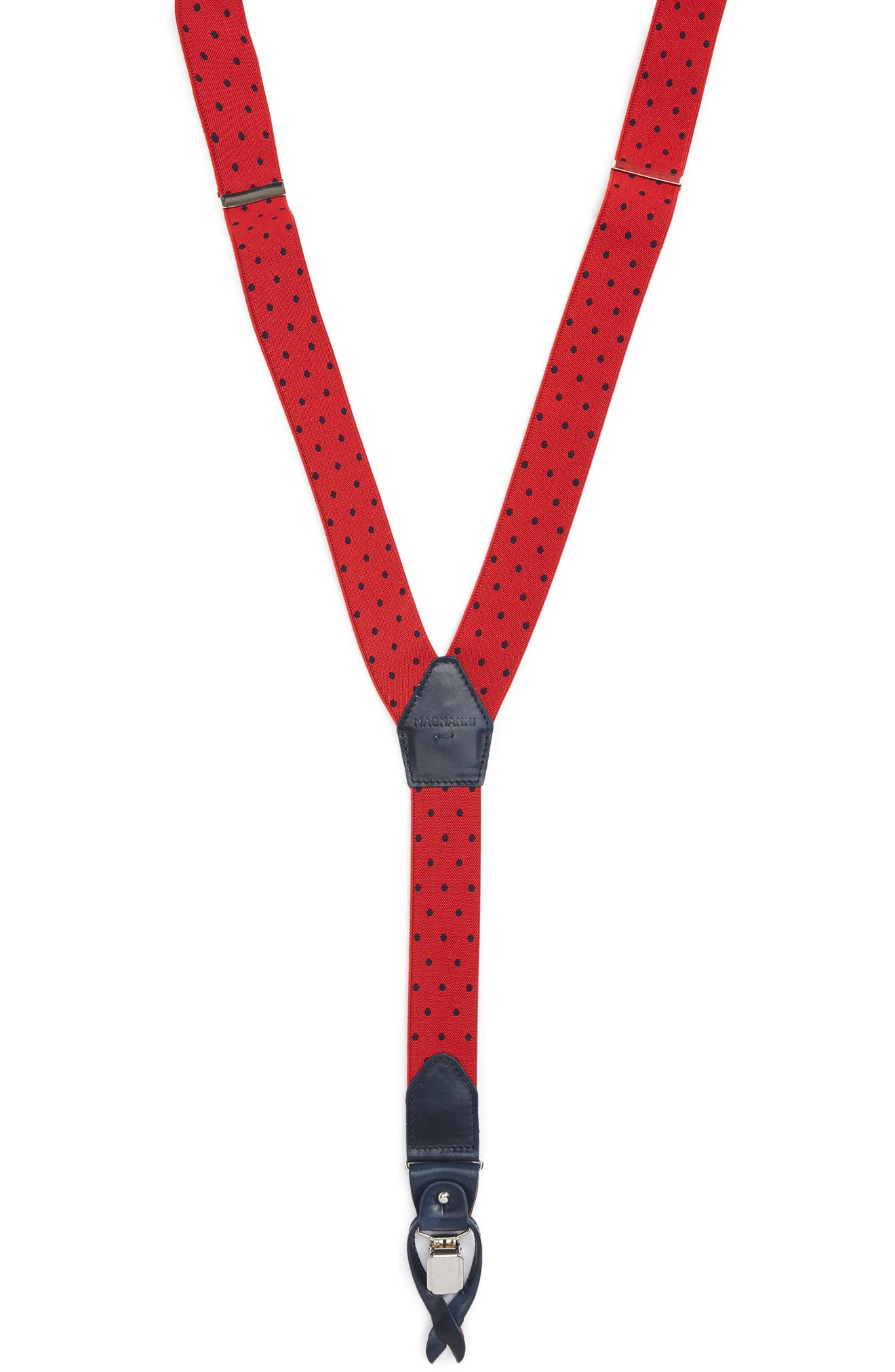 Dot Suspenders,                         Main,                         color, Red / Navy