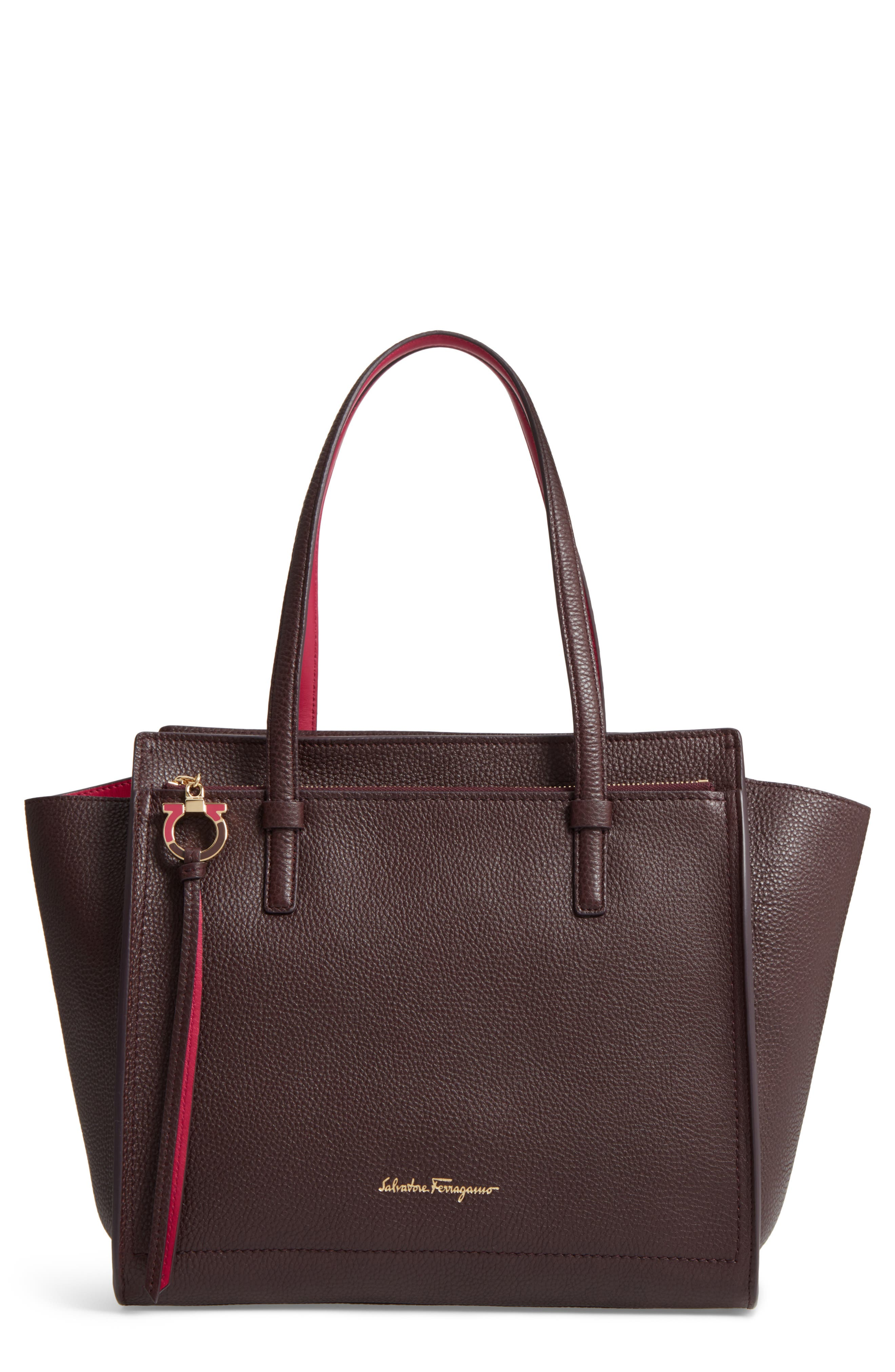 Salvatore Ferragamo Medium Bicolor Leather Tote