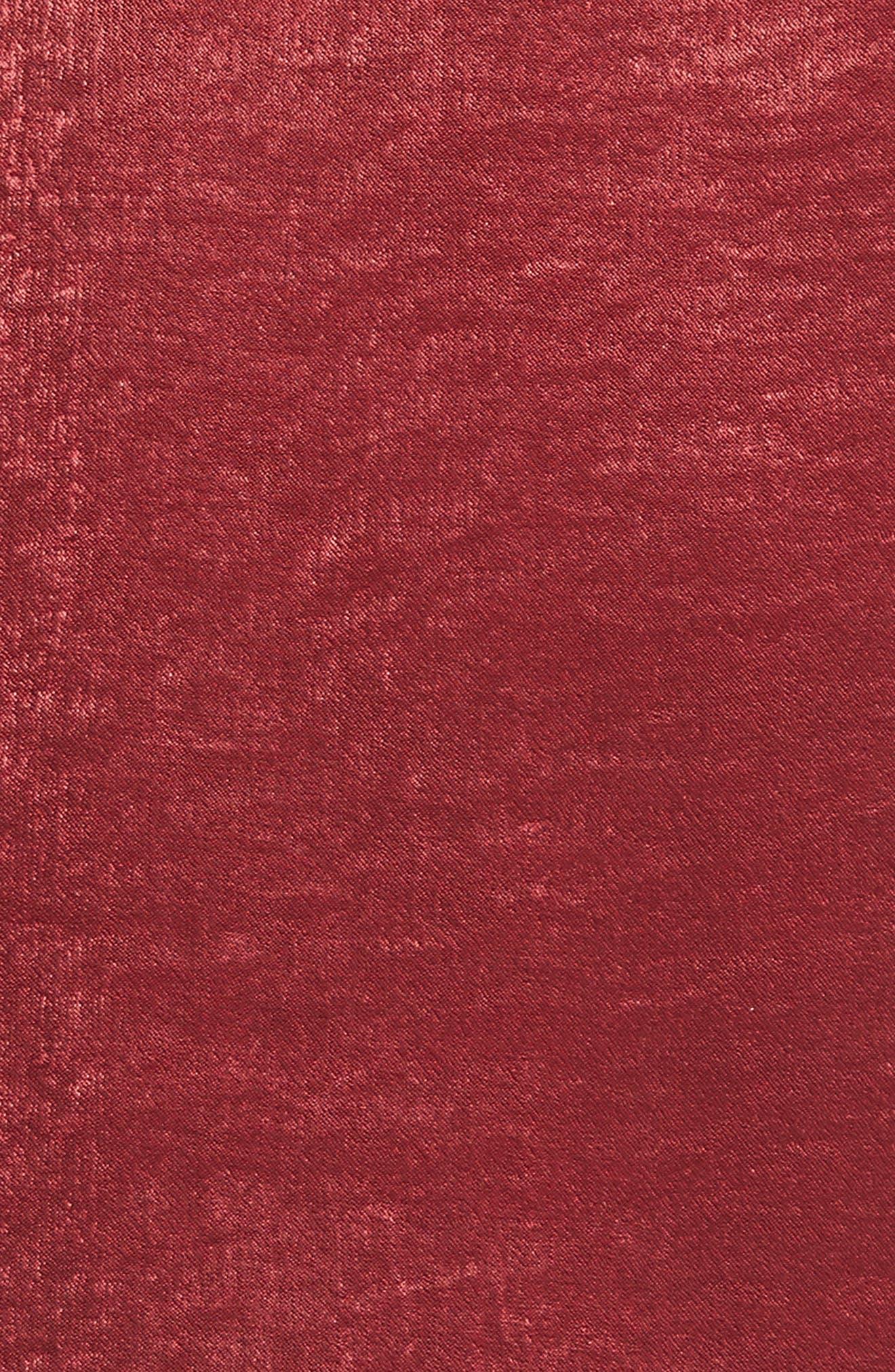 Lace Trim Camisole,                             Alternate thumbnail 5, color,                             Cordovan