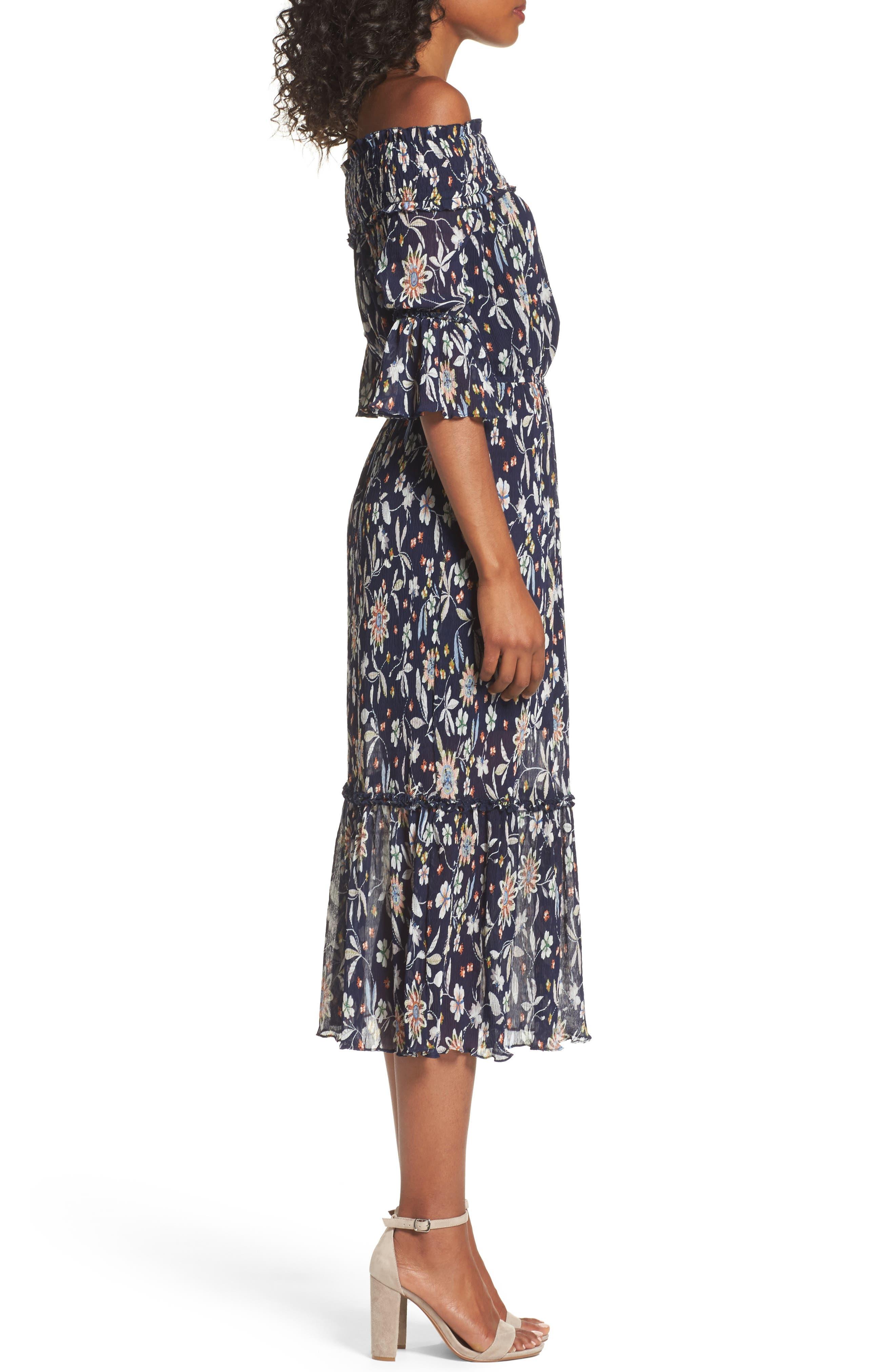 Alternate Image 3  - Chelsea28 Off the Shoulder Midi Dress