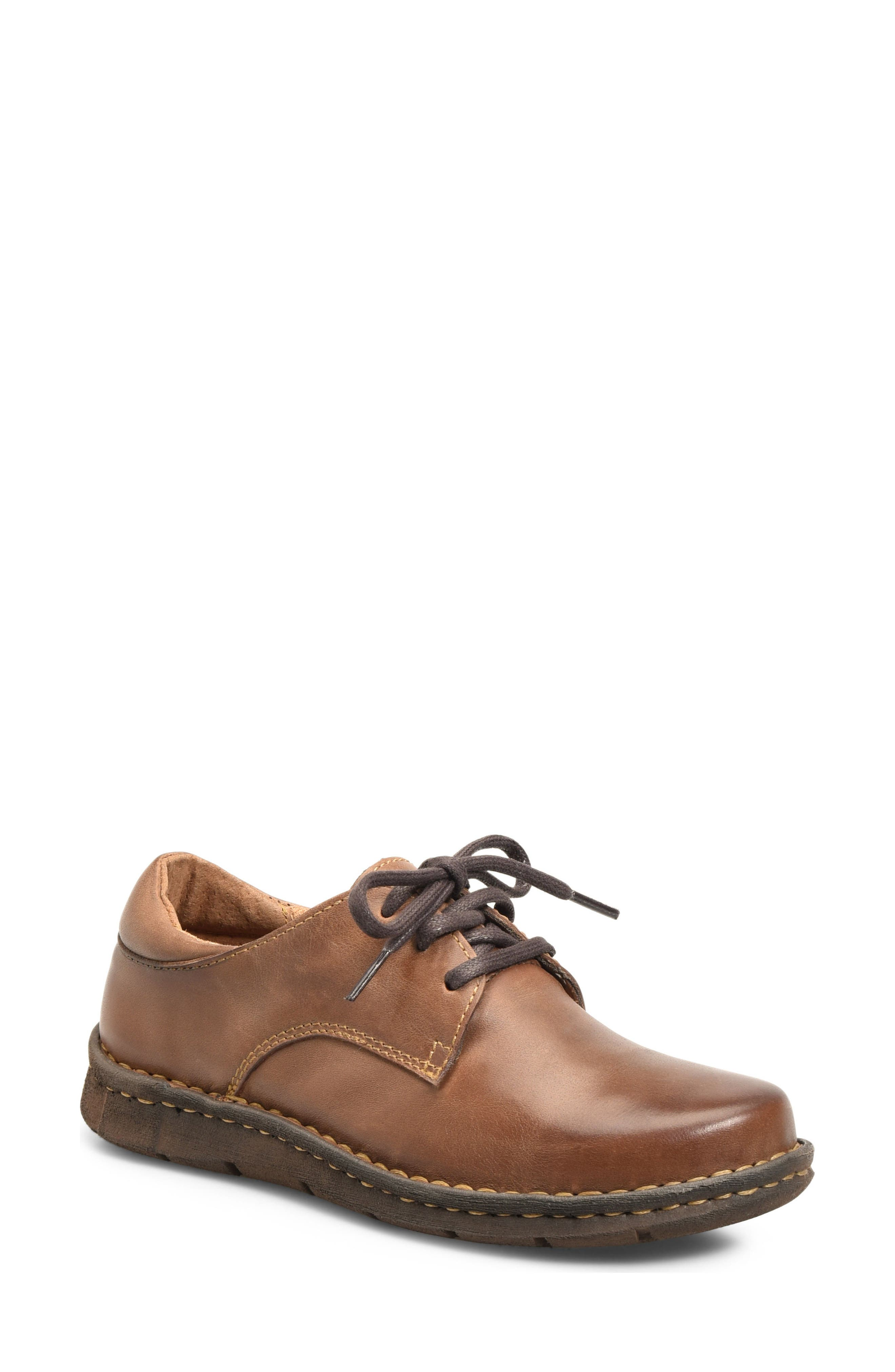 Motto Oxford,                             Main thumbnail 1, color,                             Brown Leather