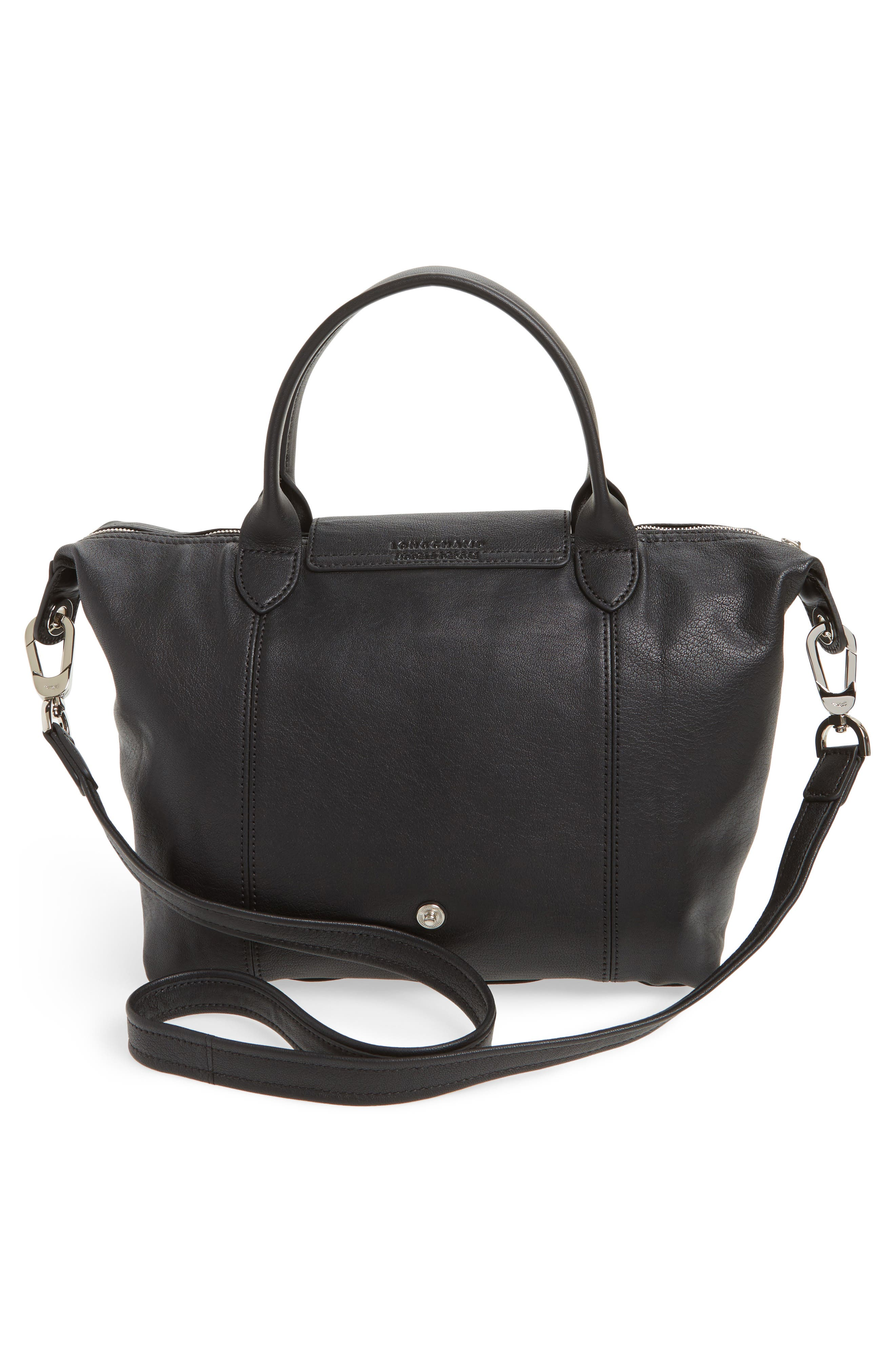 Alternate Image 3  - Longchamp 'Le Pliage Cuir' Leather Handbag