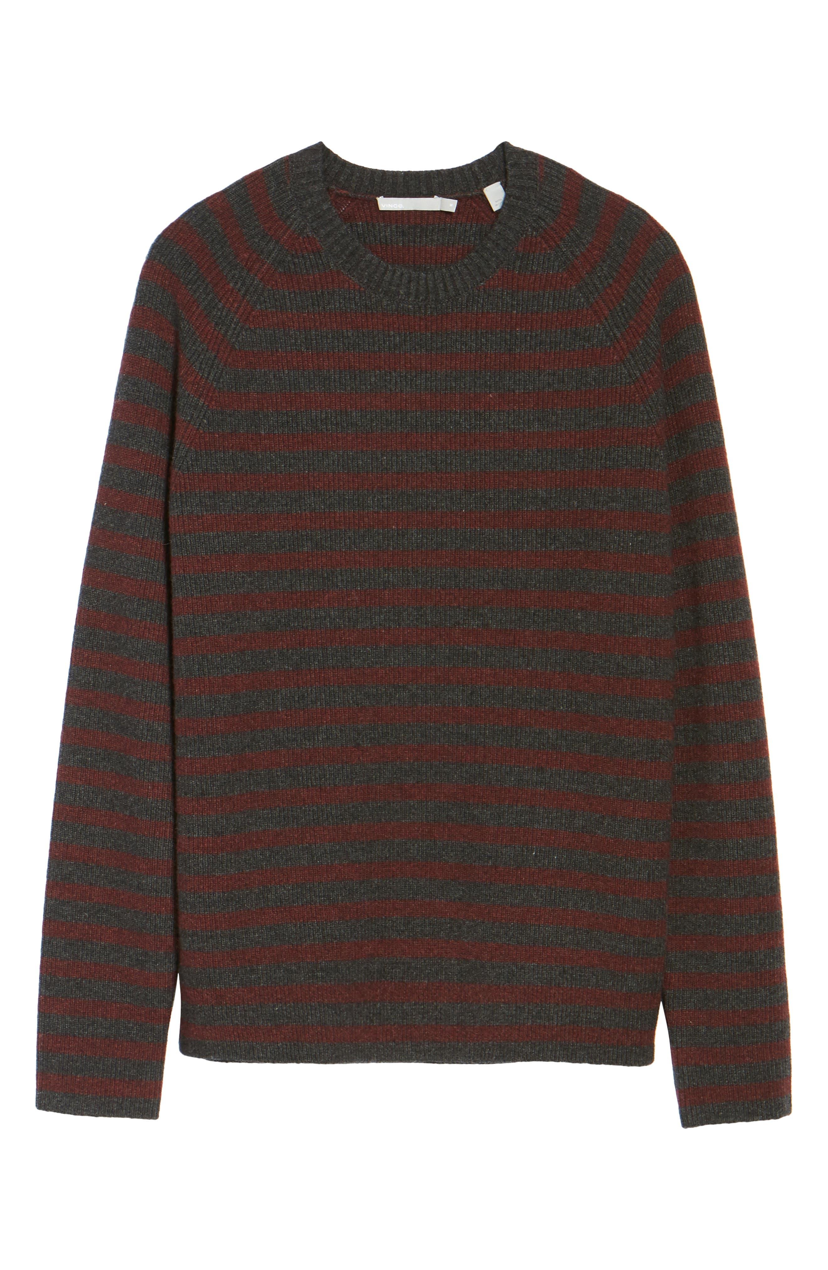 Alternate Image 5  - Vince Stripe Wool & Cashmere Sweater