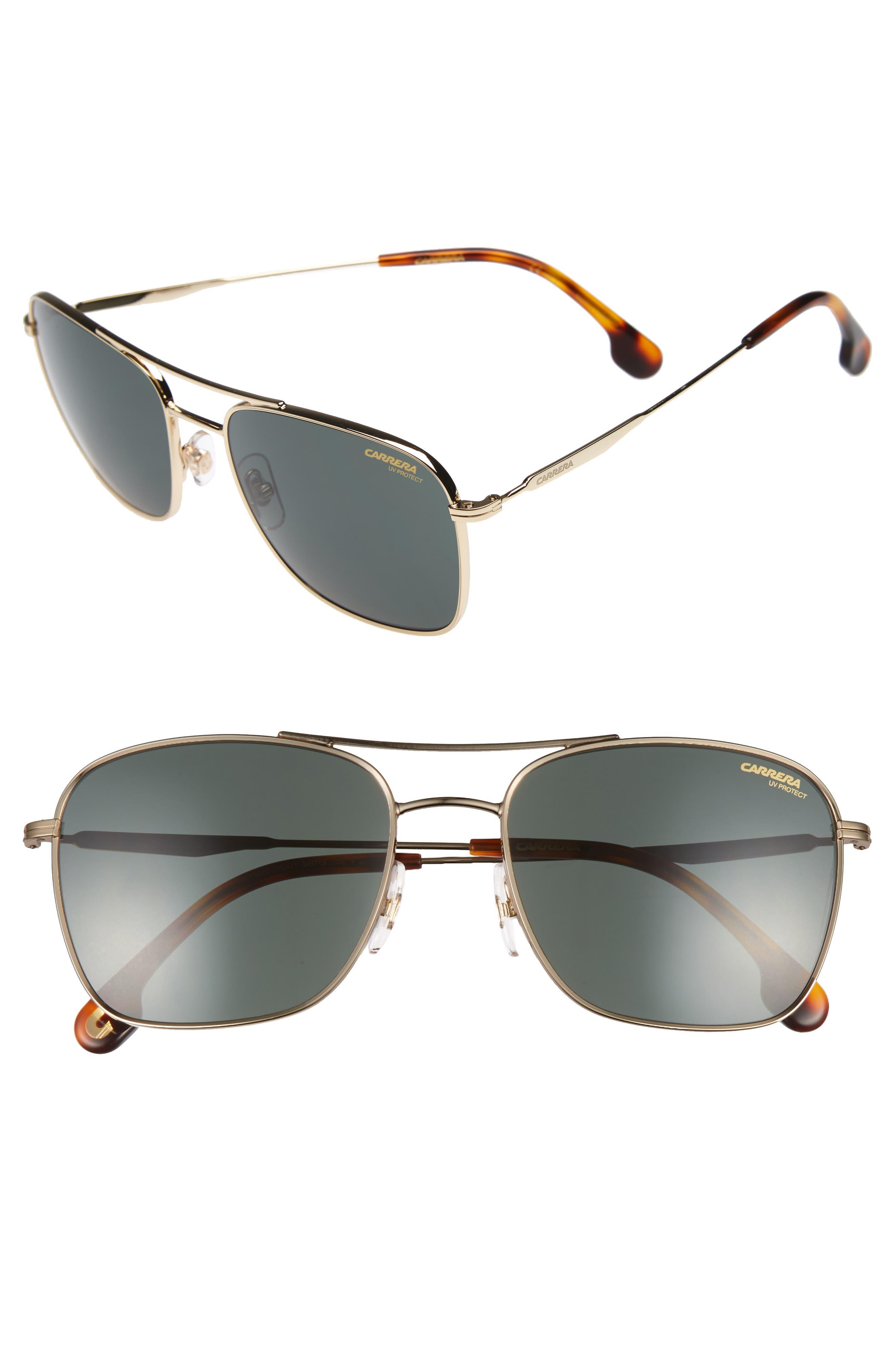 58mm Navigator Sunglasses,                             Main thumbnail 1, color,                             Gold
