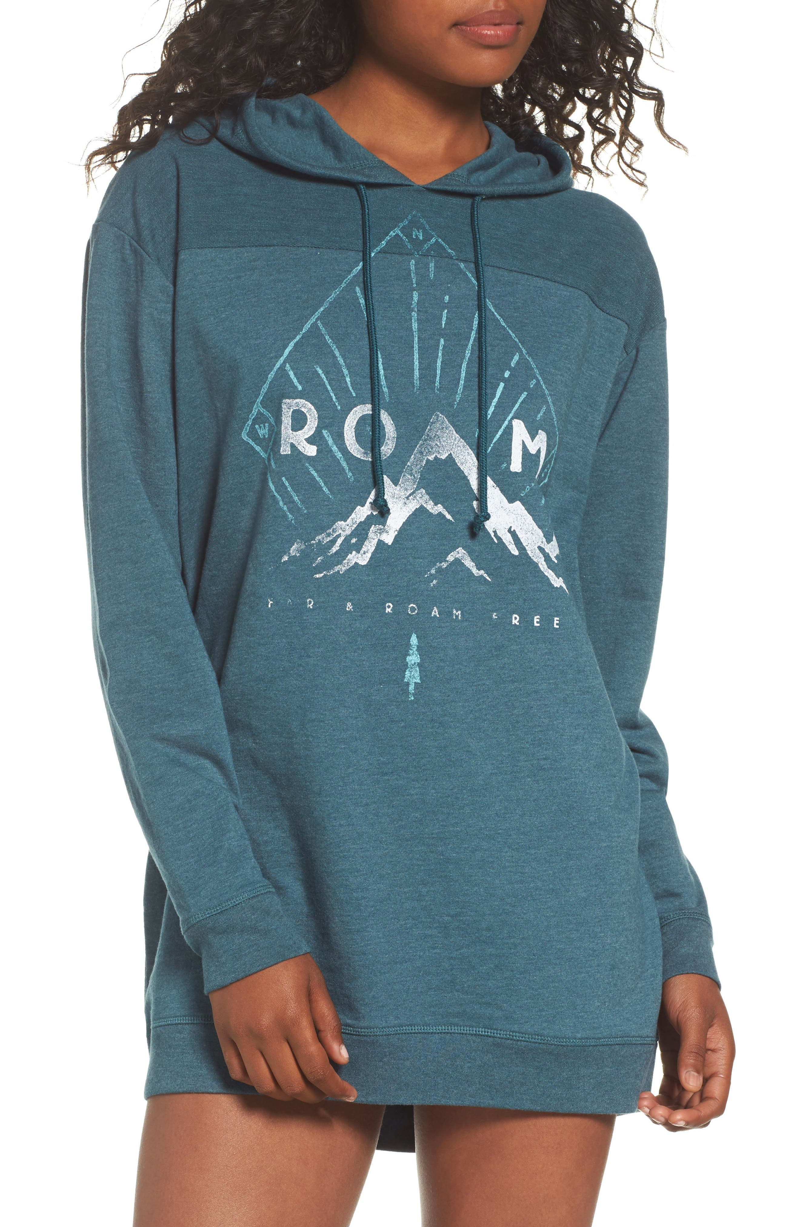 Terry Pullover Hoodie,                         Main,                         color, Navy Roam