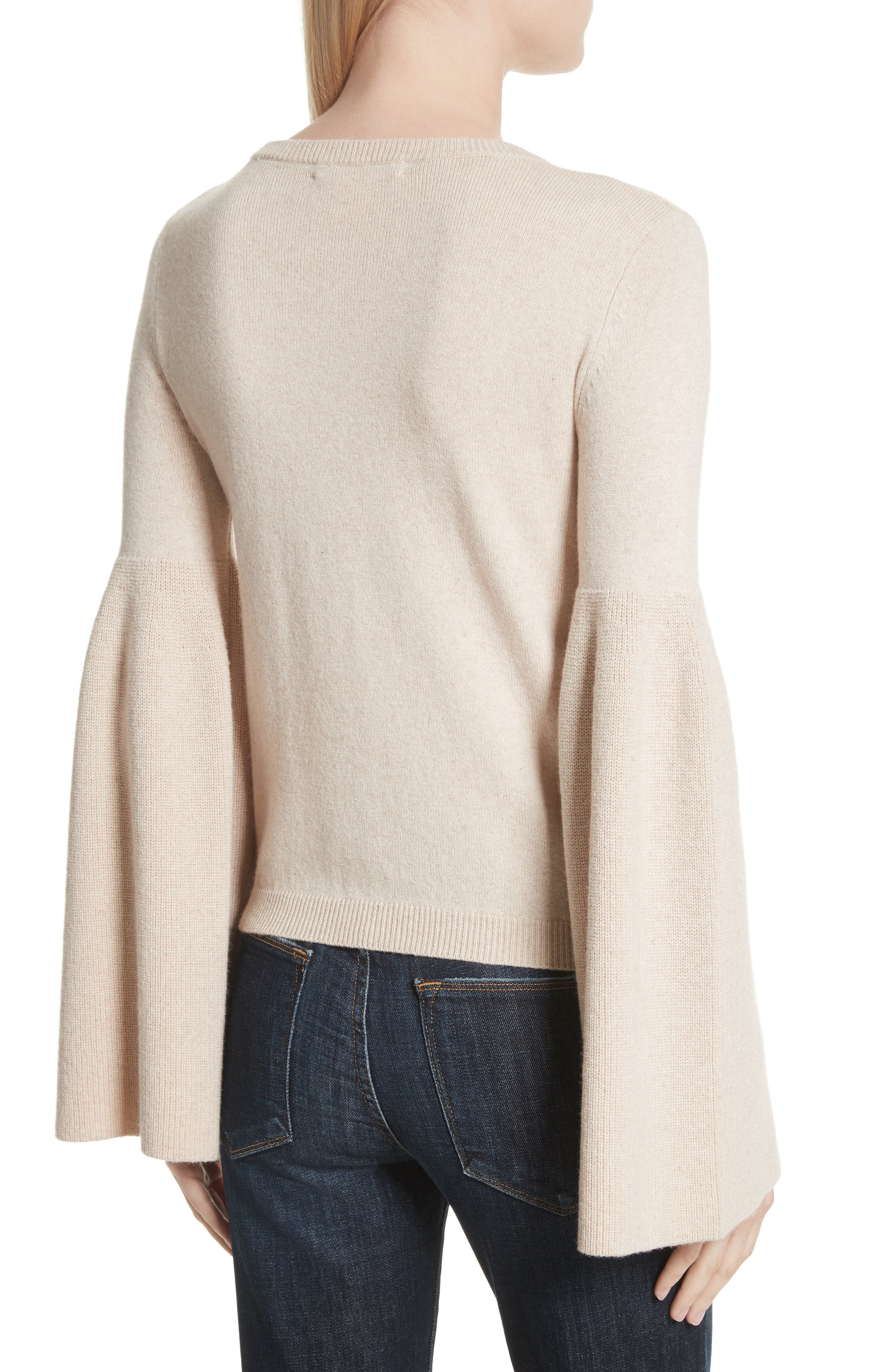 Parson Bell Sleeve Sweater,                             Alternate thumbnail 2, color,                             Nude