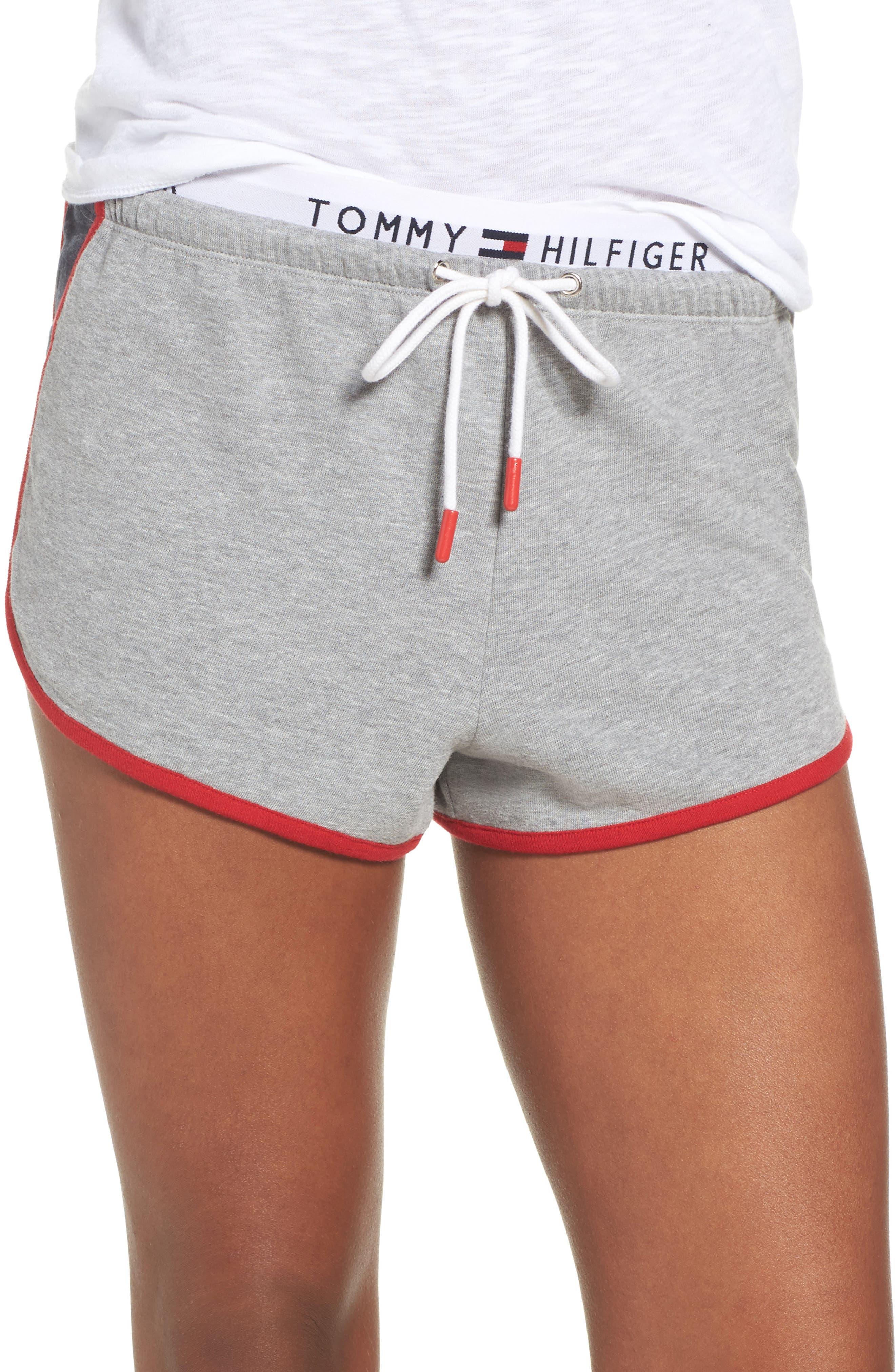TH Retro Shorts,                         Main,                         color, Heather Gray