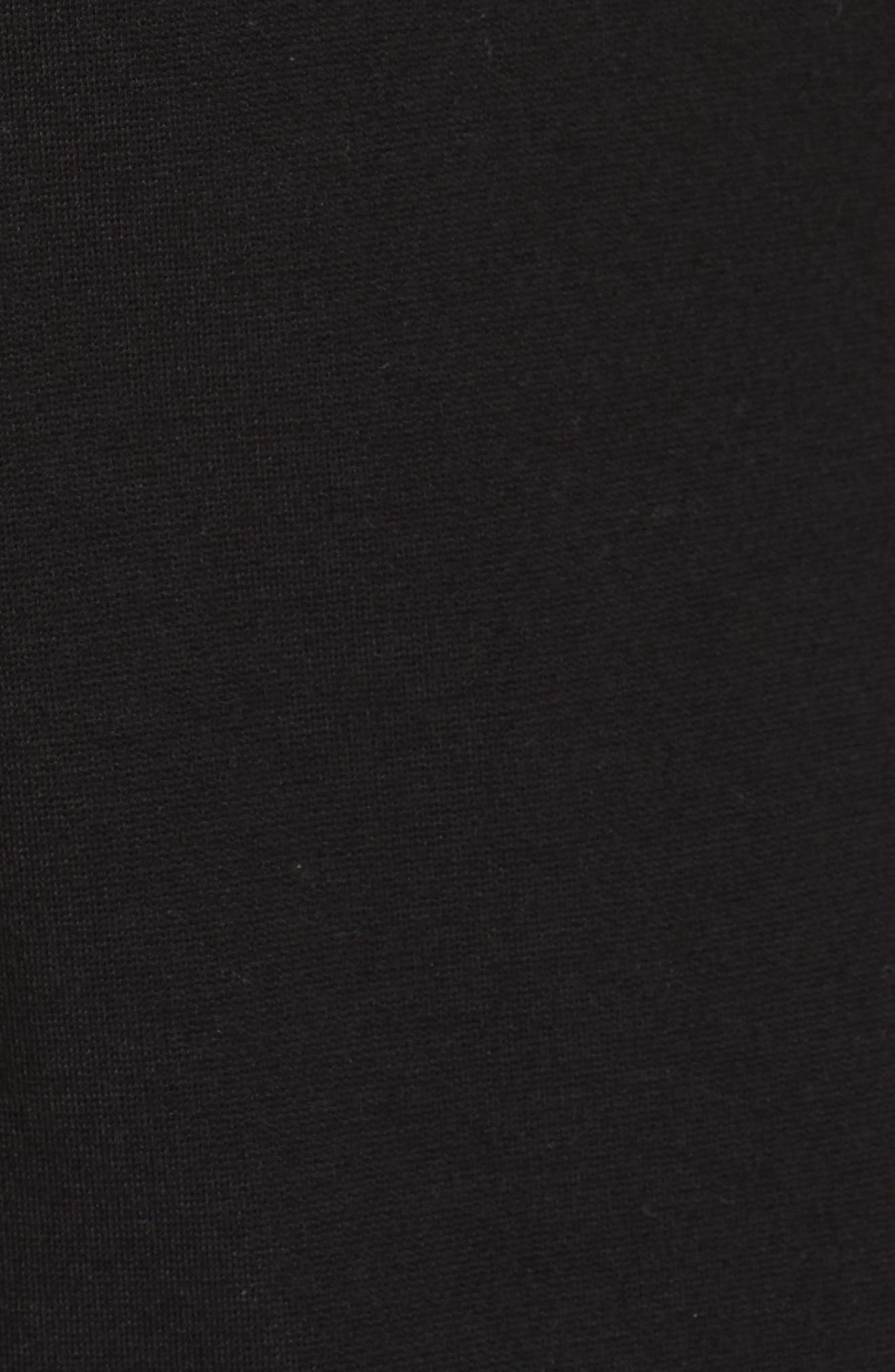 Lace Trim Sheath Dress,                             Alternate thumbnail 5, color,                             Black