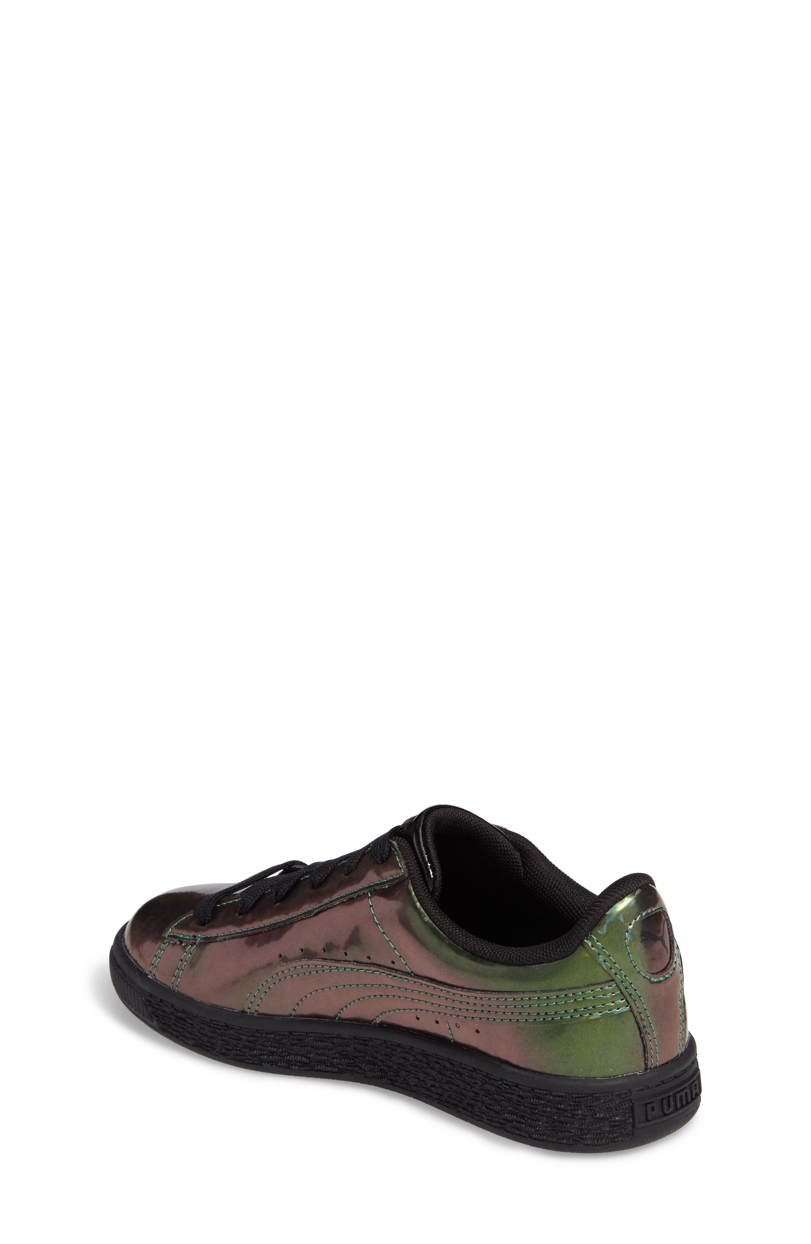 Basket Classic Holo PS Sneaker,                             Alternate thumbnail 2, color,                             Black/ Black