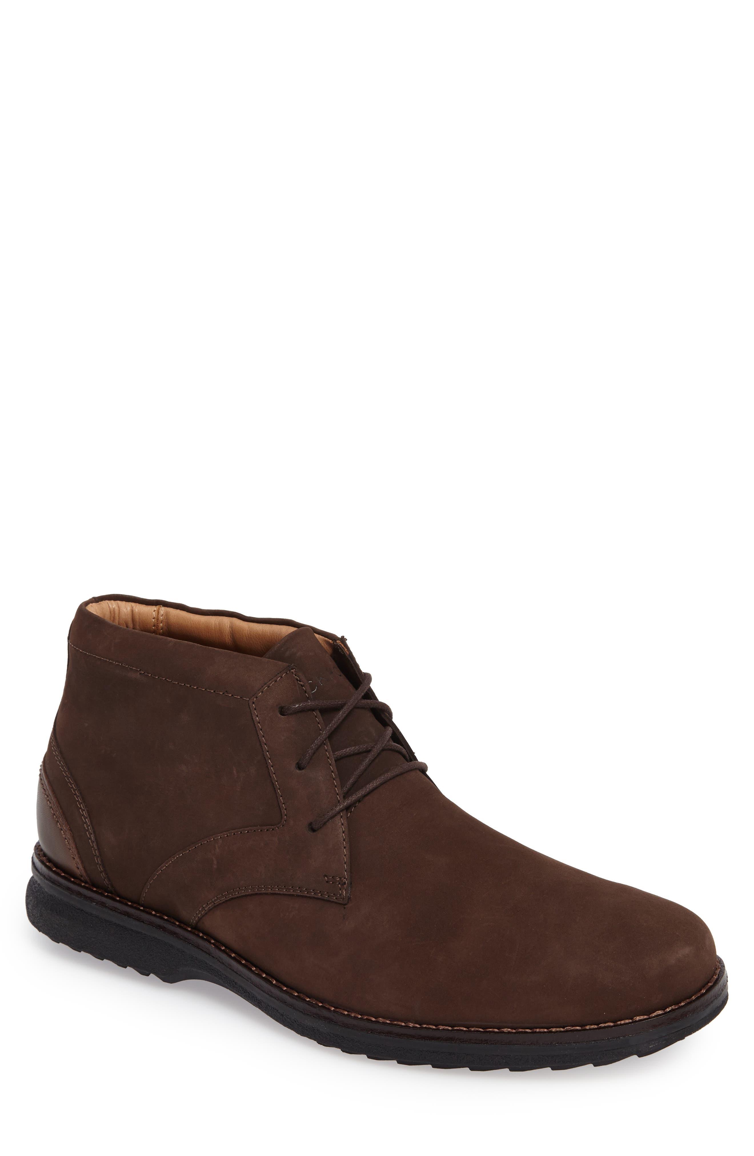 Premium Class Chukka Boot,                             Main thumbnail 1, color,                             Brown Nubuck