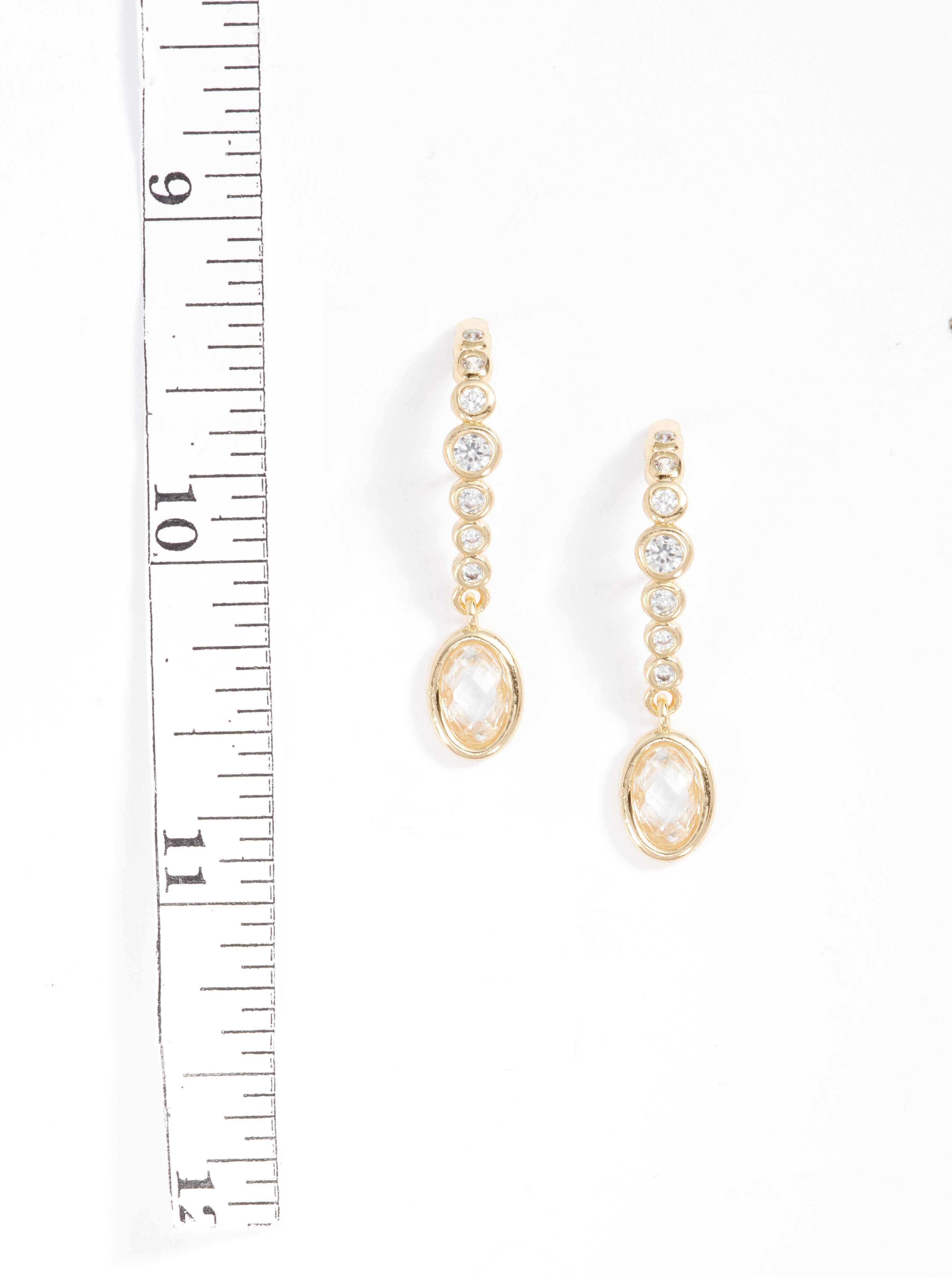 Extended Drop Earrings,                             Alternate thumbnail 2, color,                             Gold