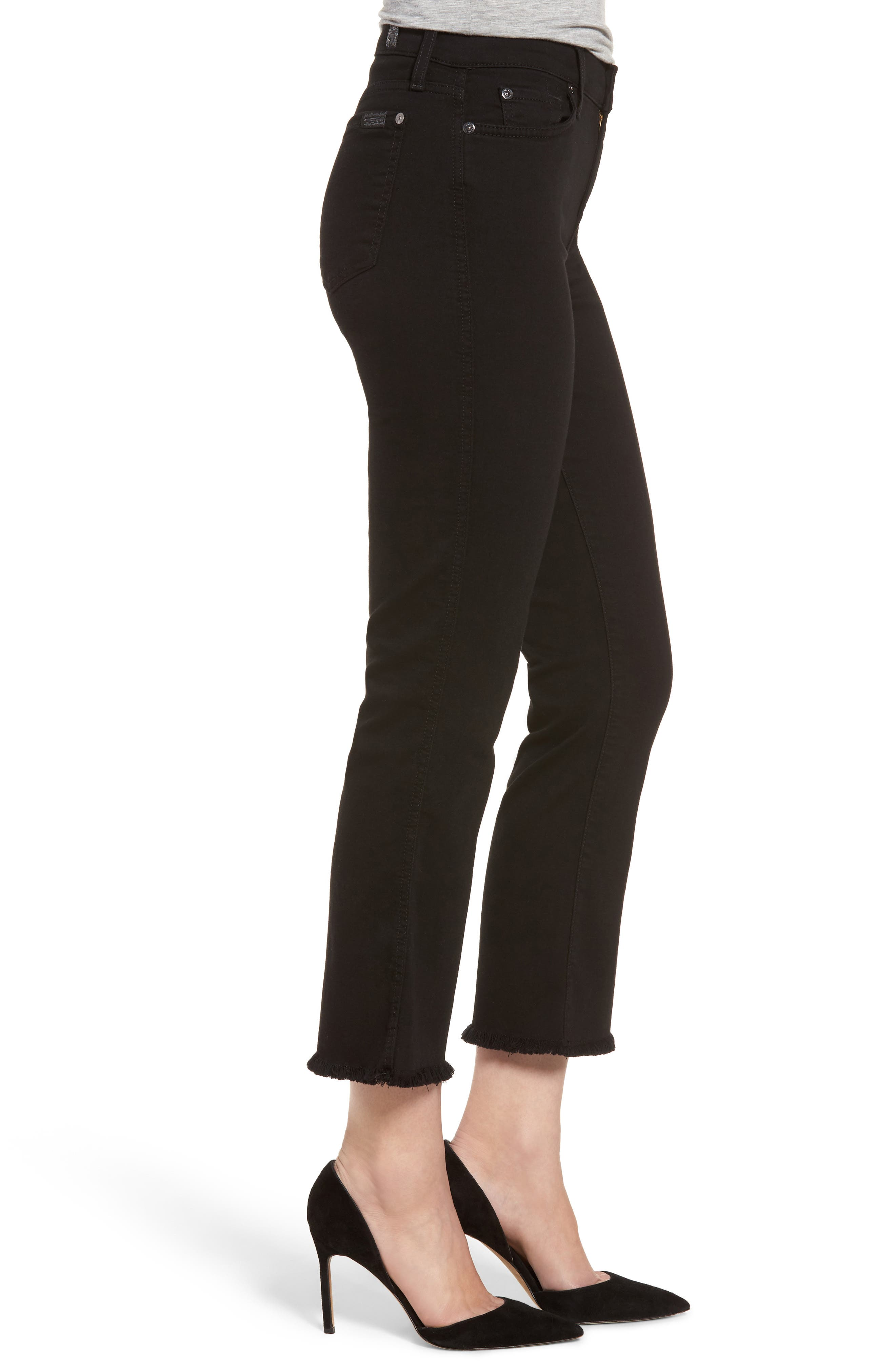 Alternate Image 3  - 7 For All Mankind® b(air) Crop Bootcut Jeans (b(air) Black)