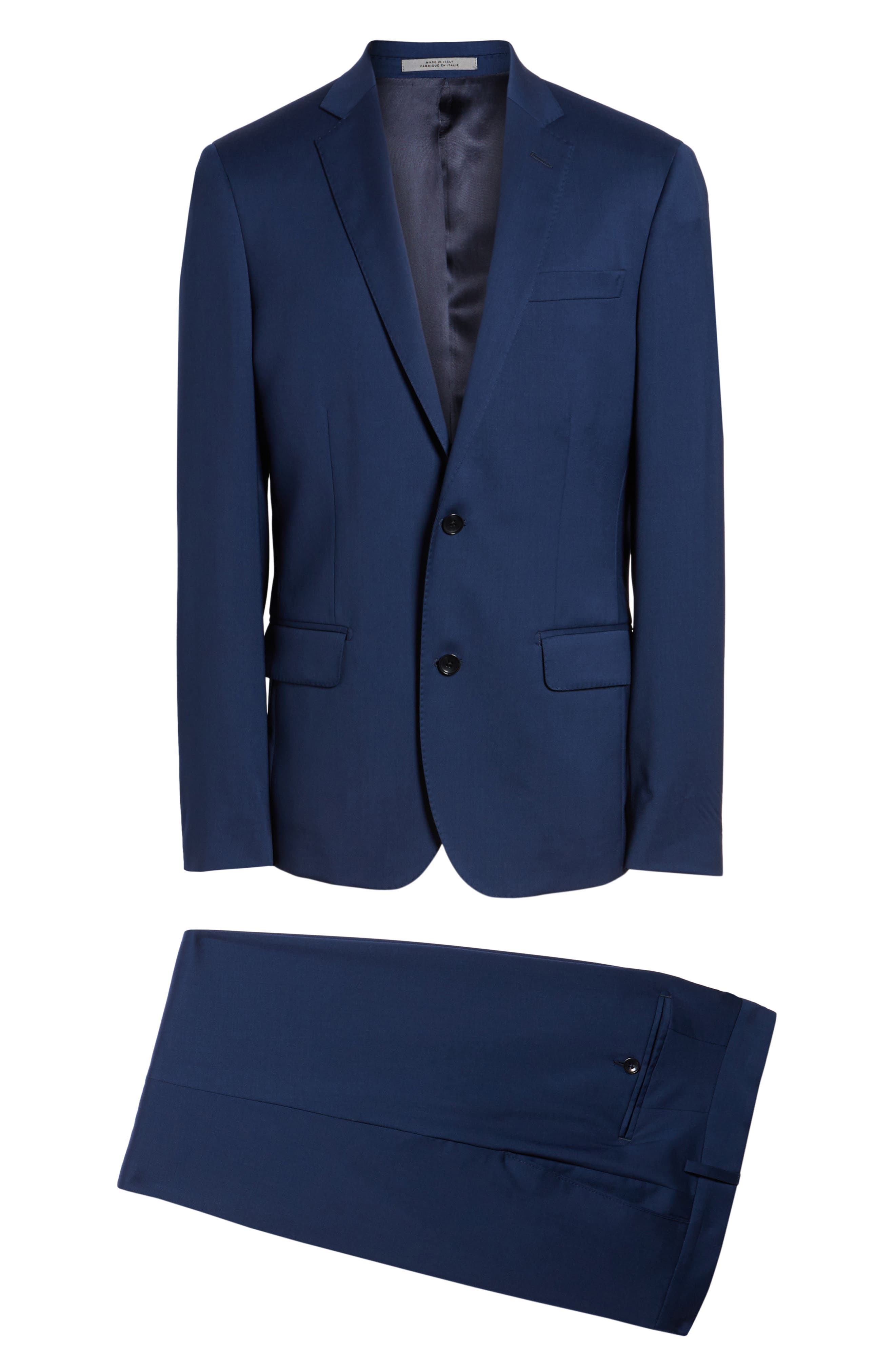 Classic Fit Solid Wool Suit,                             Alternate thumbnail 8, color,                             High Blue