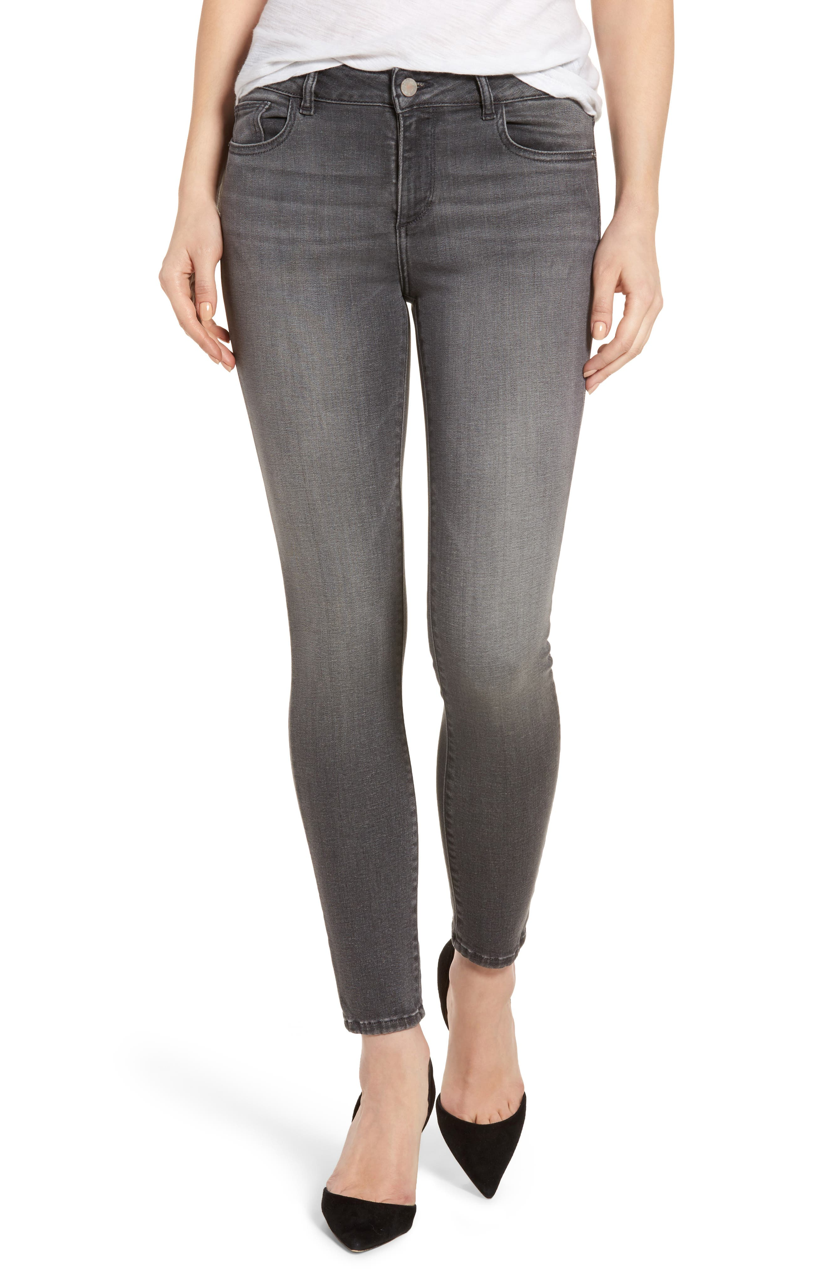 Alternate Image 1 Selected - DL1961 Margaux Instasculpt Ankle Skinny Jeans (Drizzle)