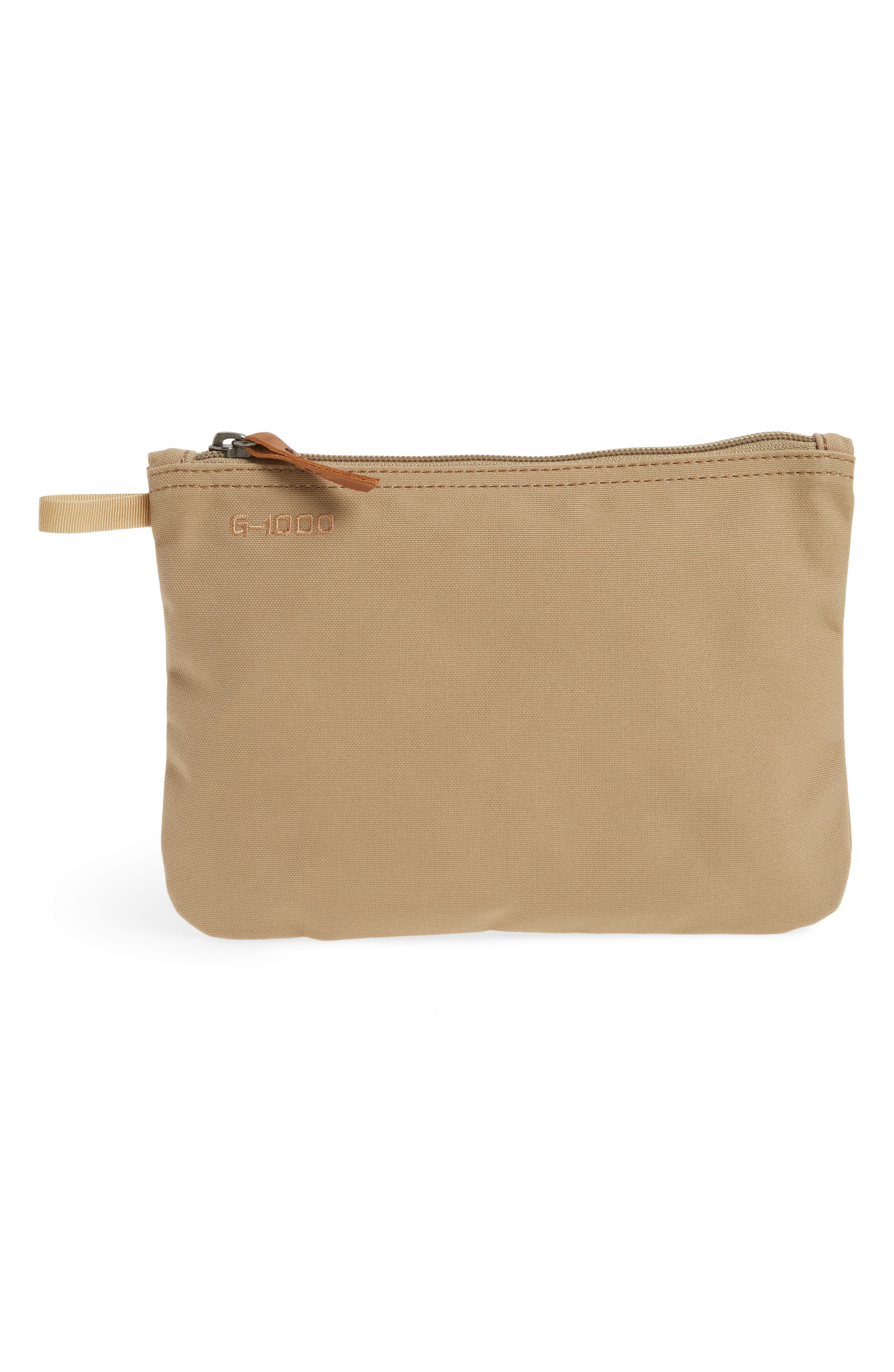 Gear Water-Resistant Pocket Pouch,                             Main thumbnail 1, color,                             Sand