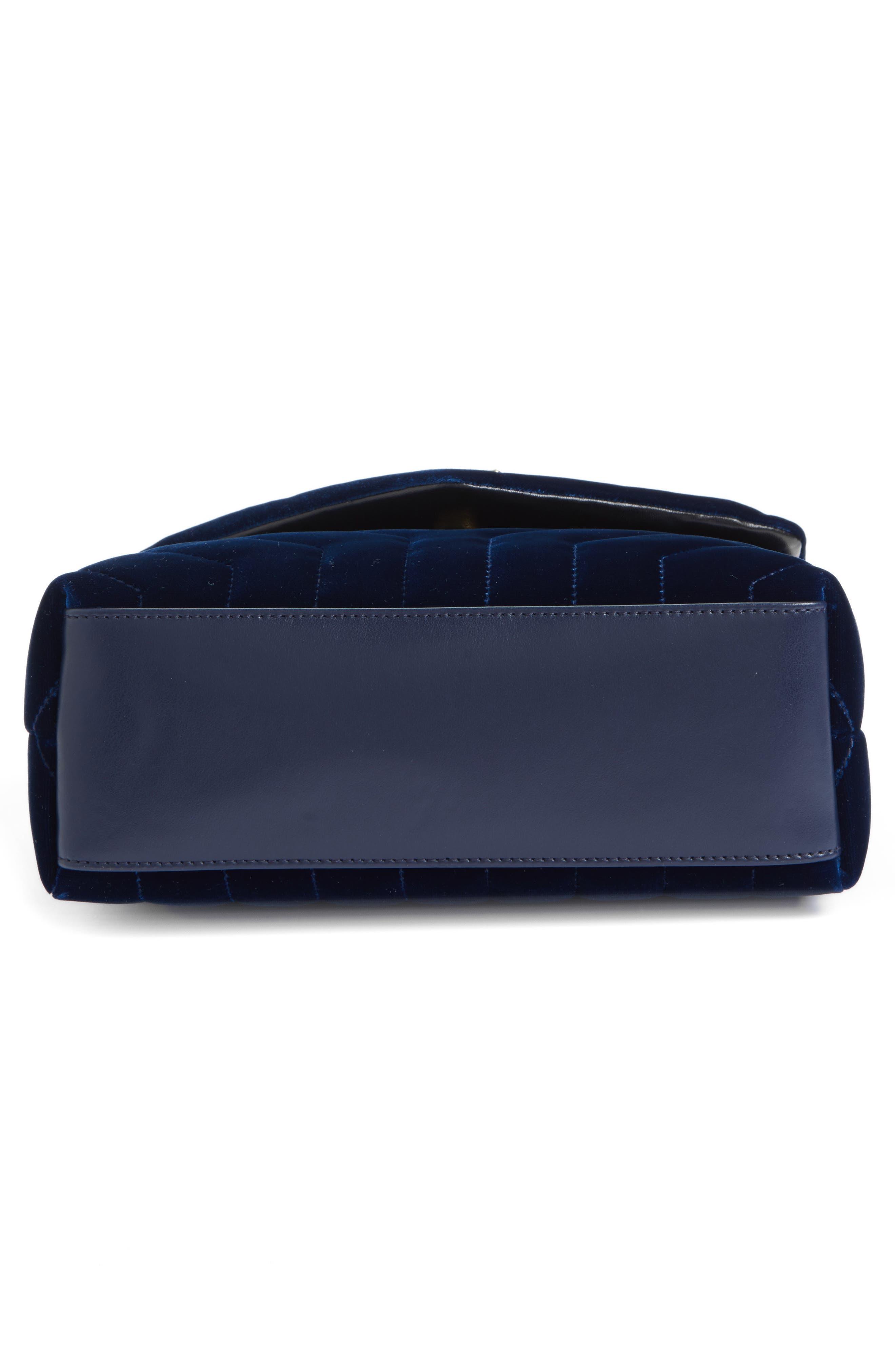Alternate Image 6  - Saint Laurent Small LouLou Matelassé Velour Shoulder Bag