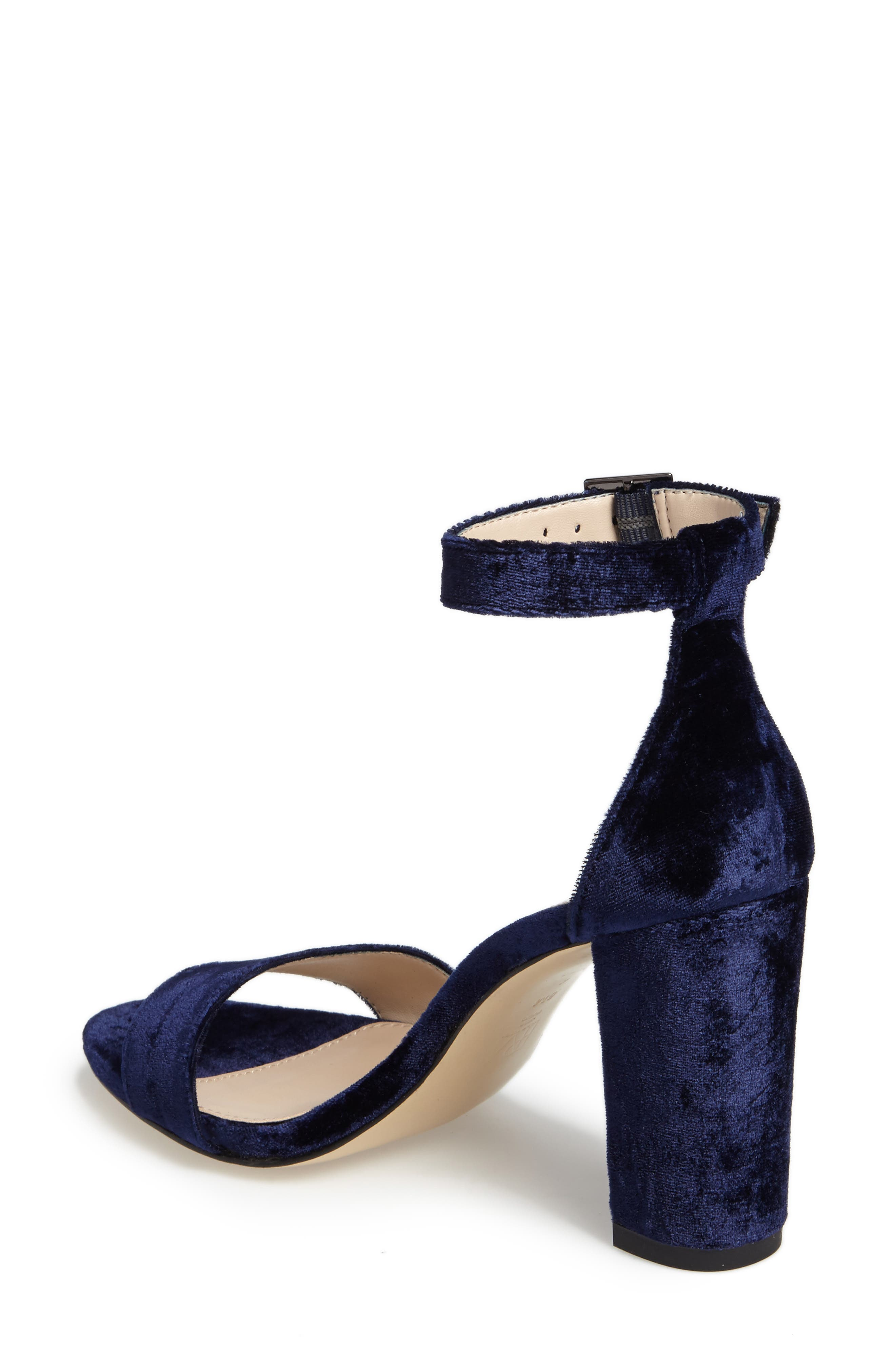 Bonnie Ankle Strap Sandal,                             Alternate thumbnail 2, color,                             Midnight