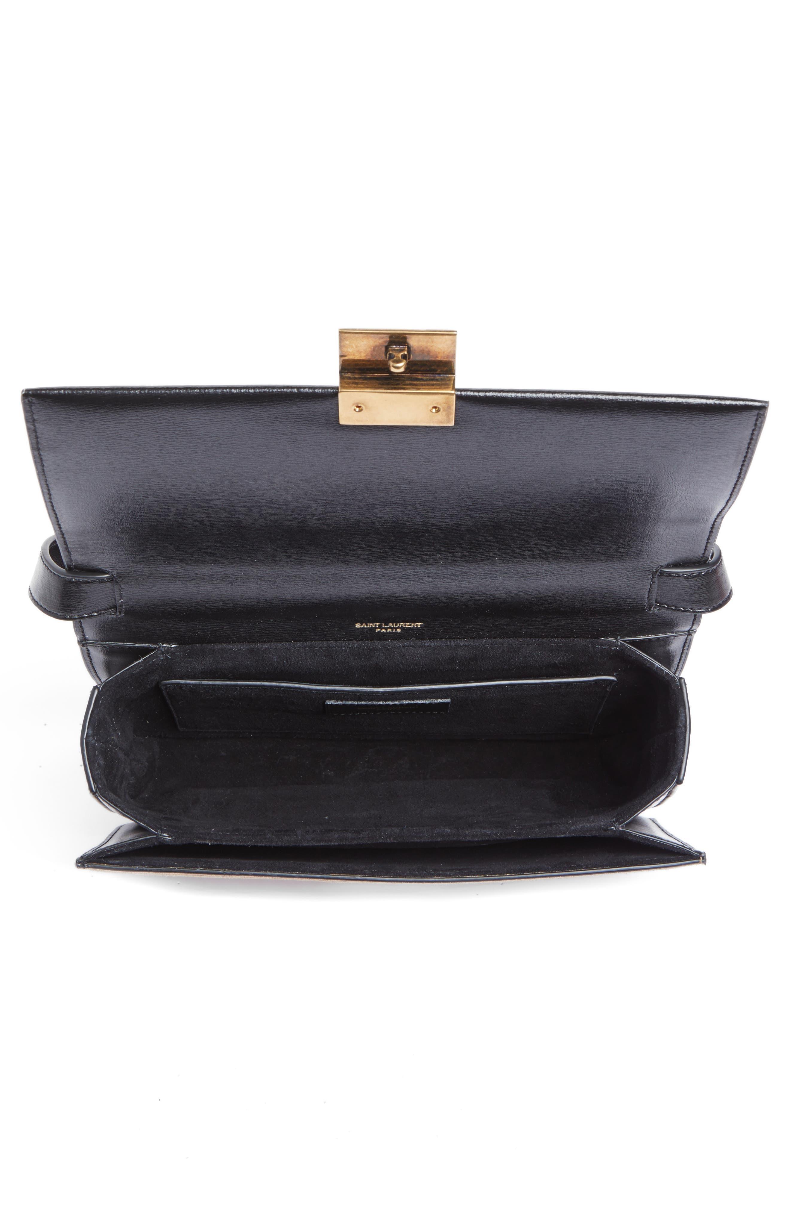 Alternate Image 4  - Saint Laurent Medium Bellechasse Suede & Leather Shoulder Bag
