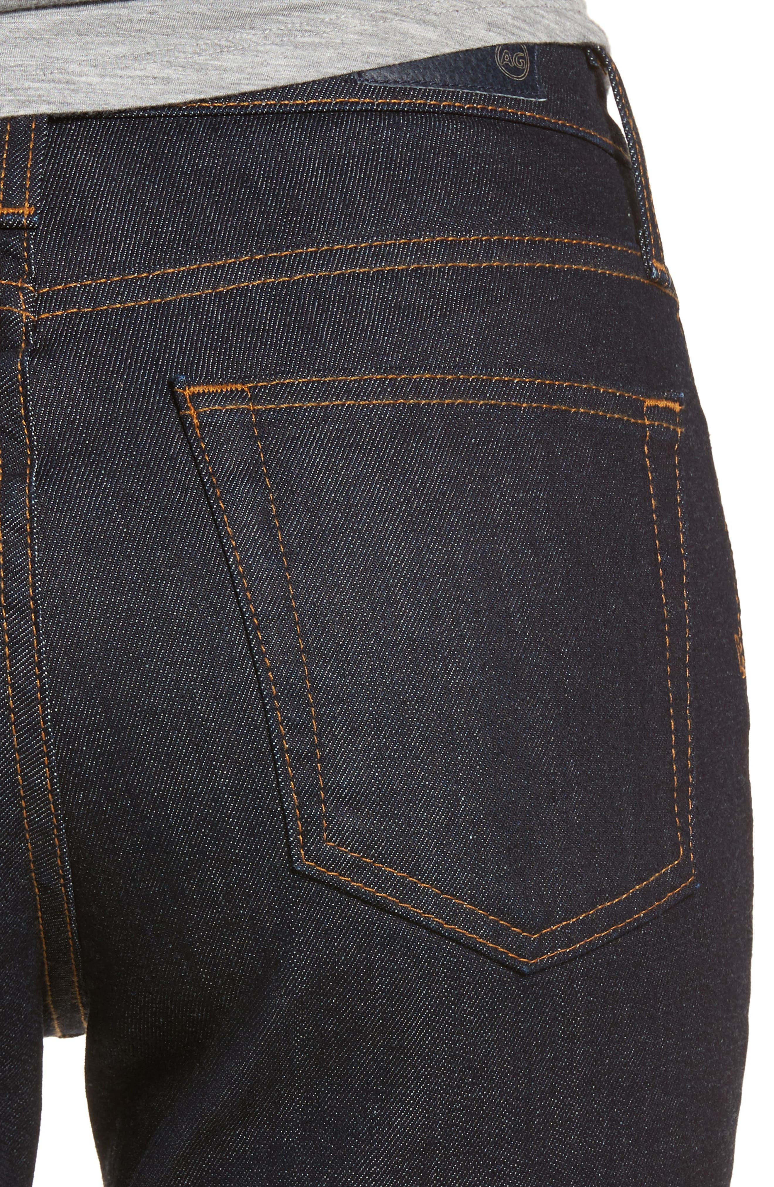 Alternate Image 4  - AG Isabelle High Waist Ankle Jeans (Indigo Autumn)