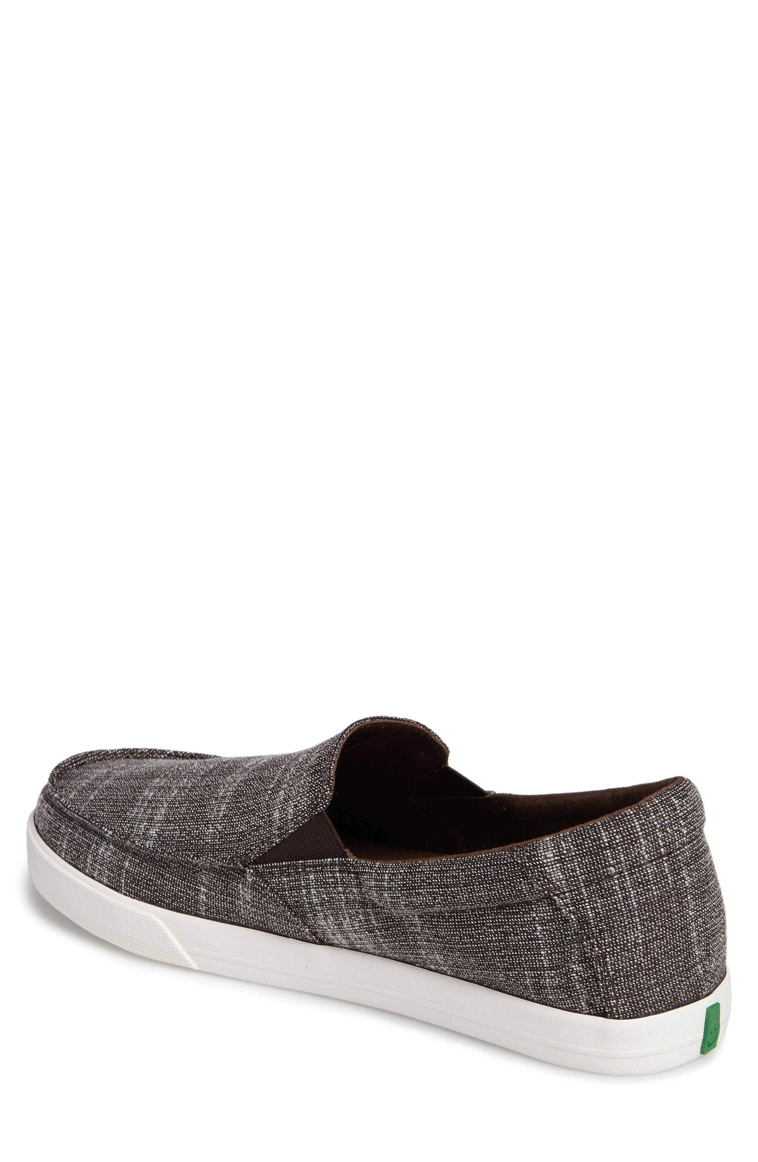 'Sideline' Linen Slip-On,                             Alternate thumbnail 2, color,                             Brown