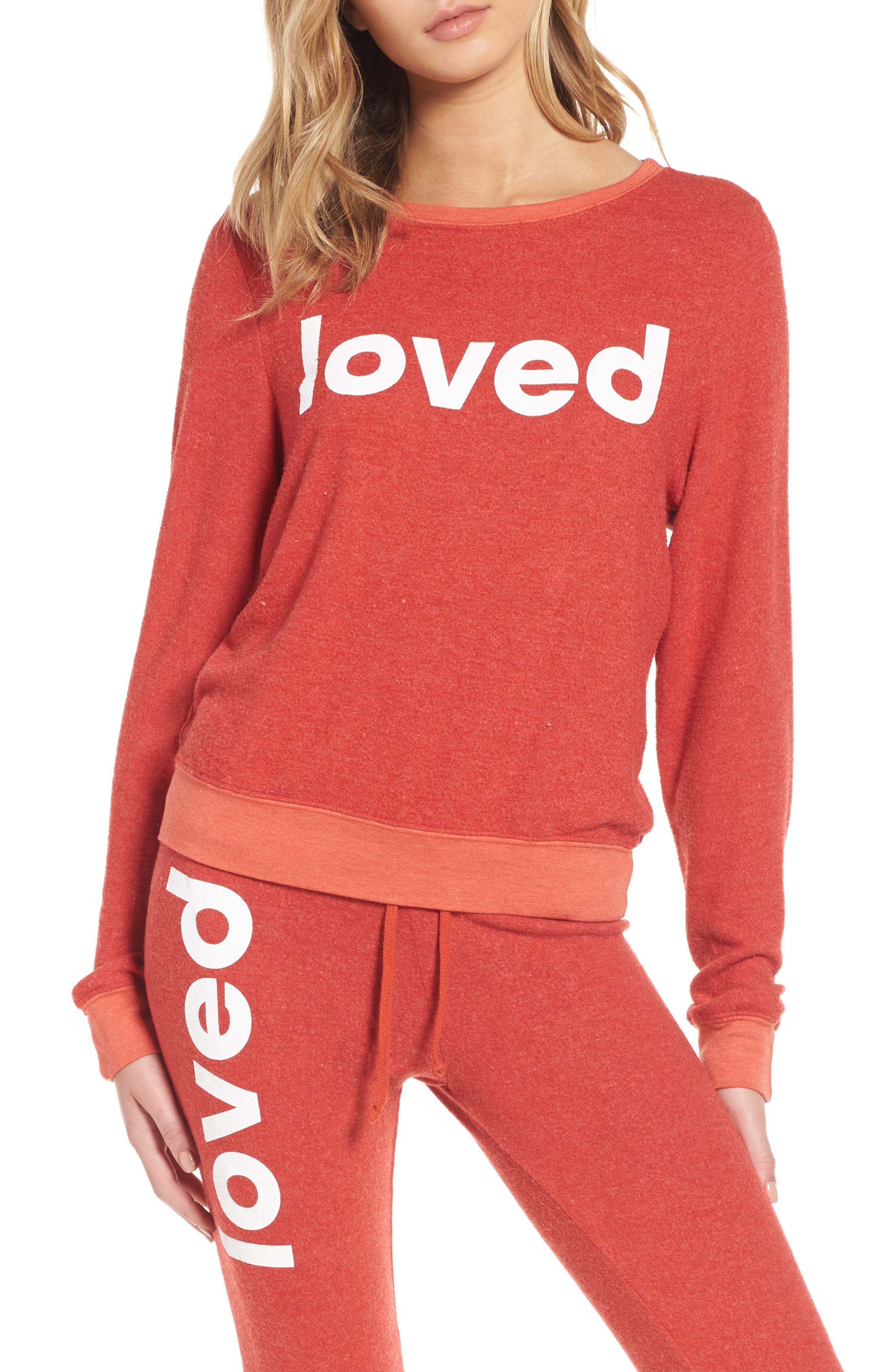 Alternate Image 1 Selected - Dream Scene Loved Sweatshirt