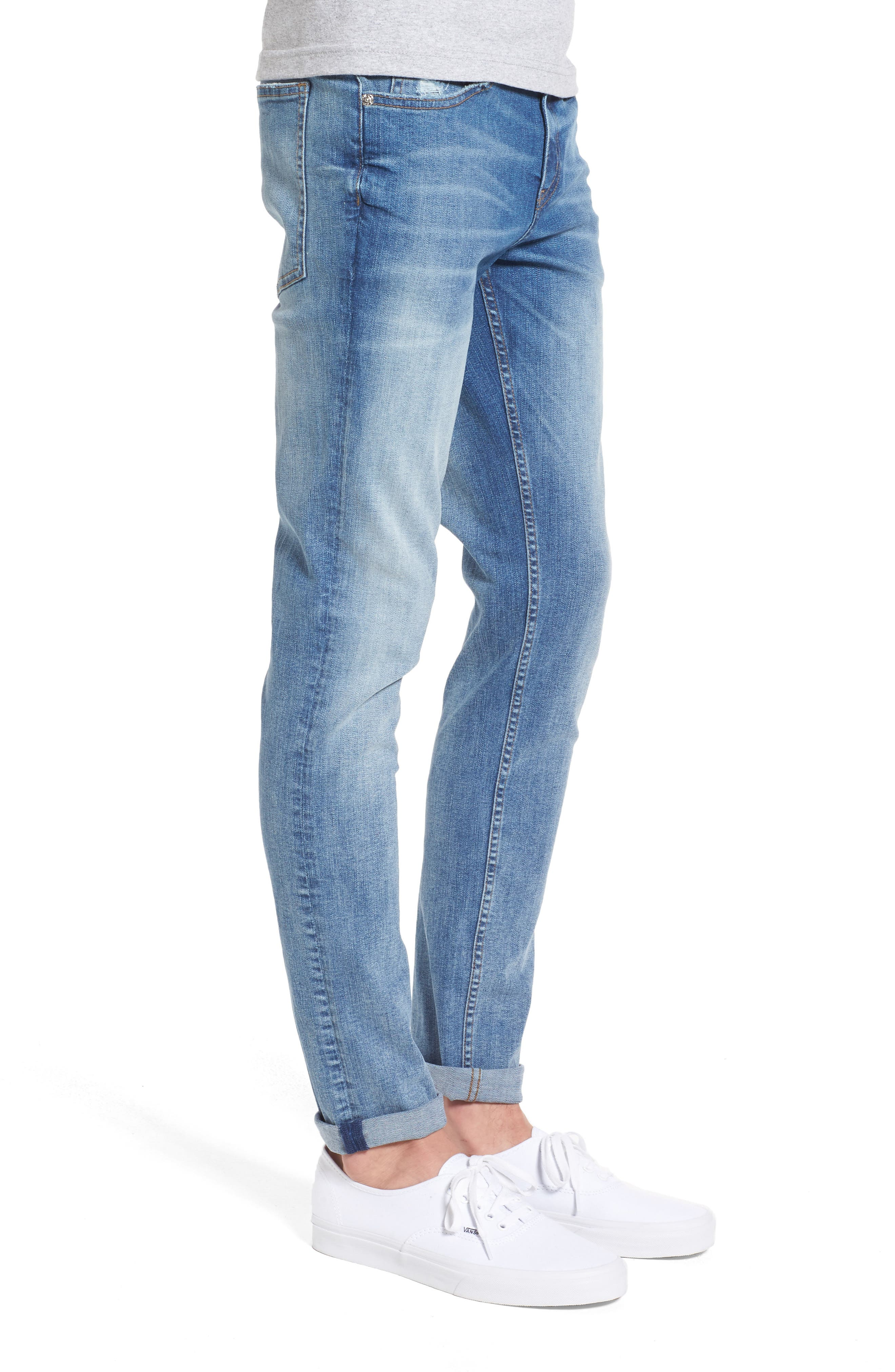 Alternate Image 3  - Cheap Monday Tight Skinny Fit Jeans (Dug Up Blue)