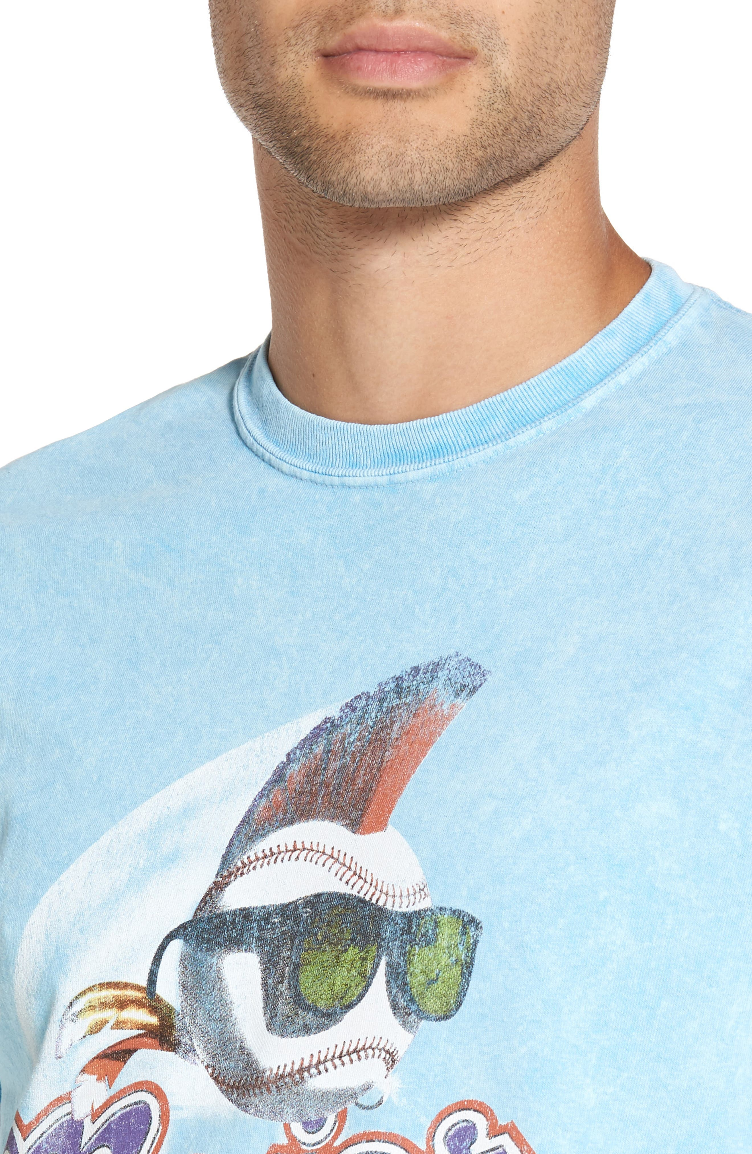 Alternate Image 4  - The Rail Washed Graphic T-Shirt
