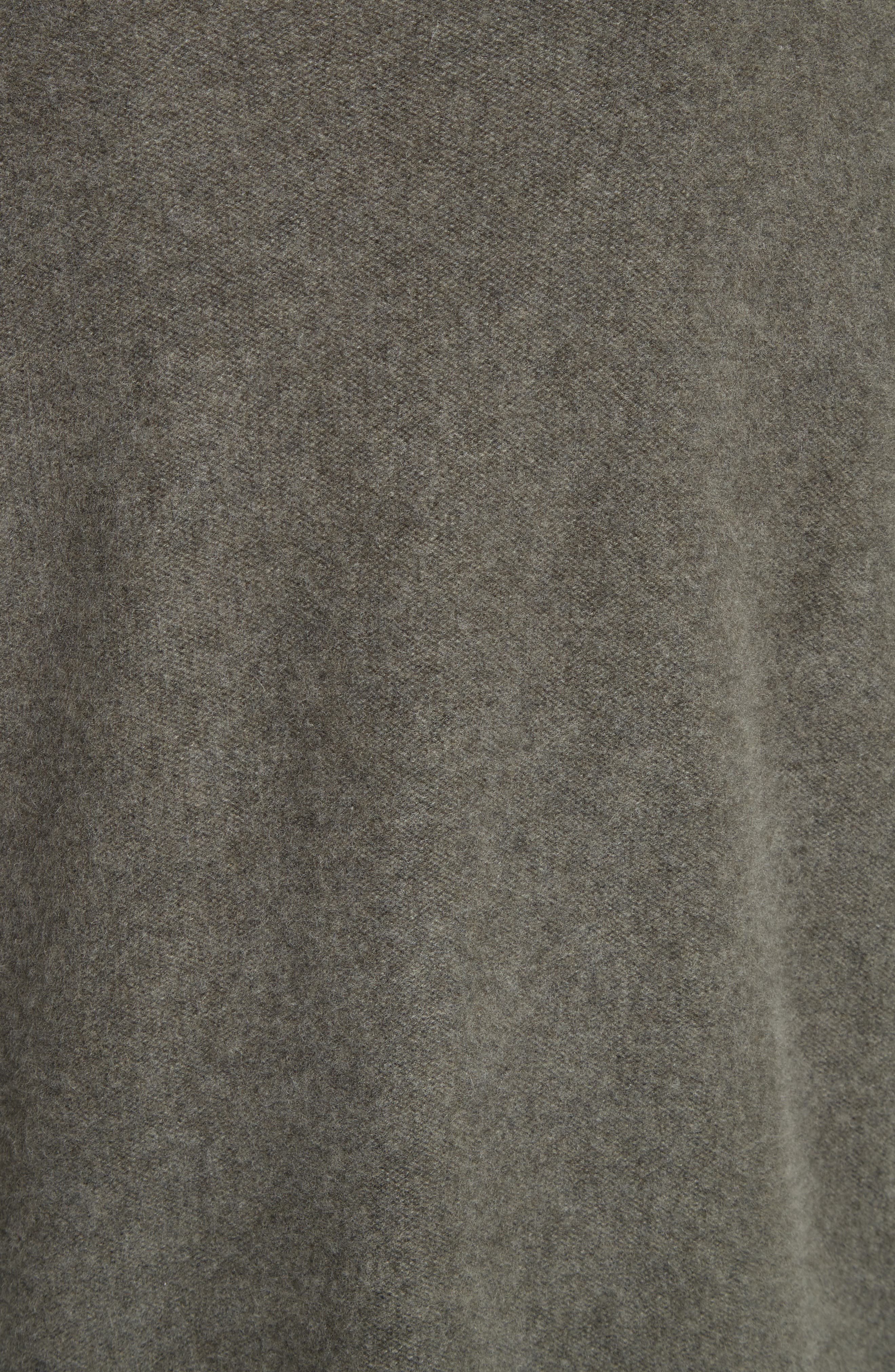 Boxy Mock Neck Cashmere Sweater,                             Alternate thumbnail 5, color,                             Desert Sage