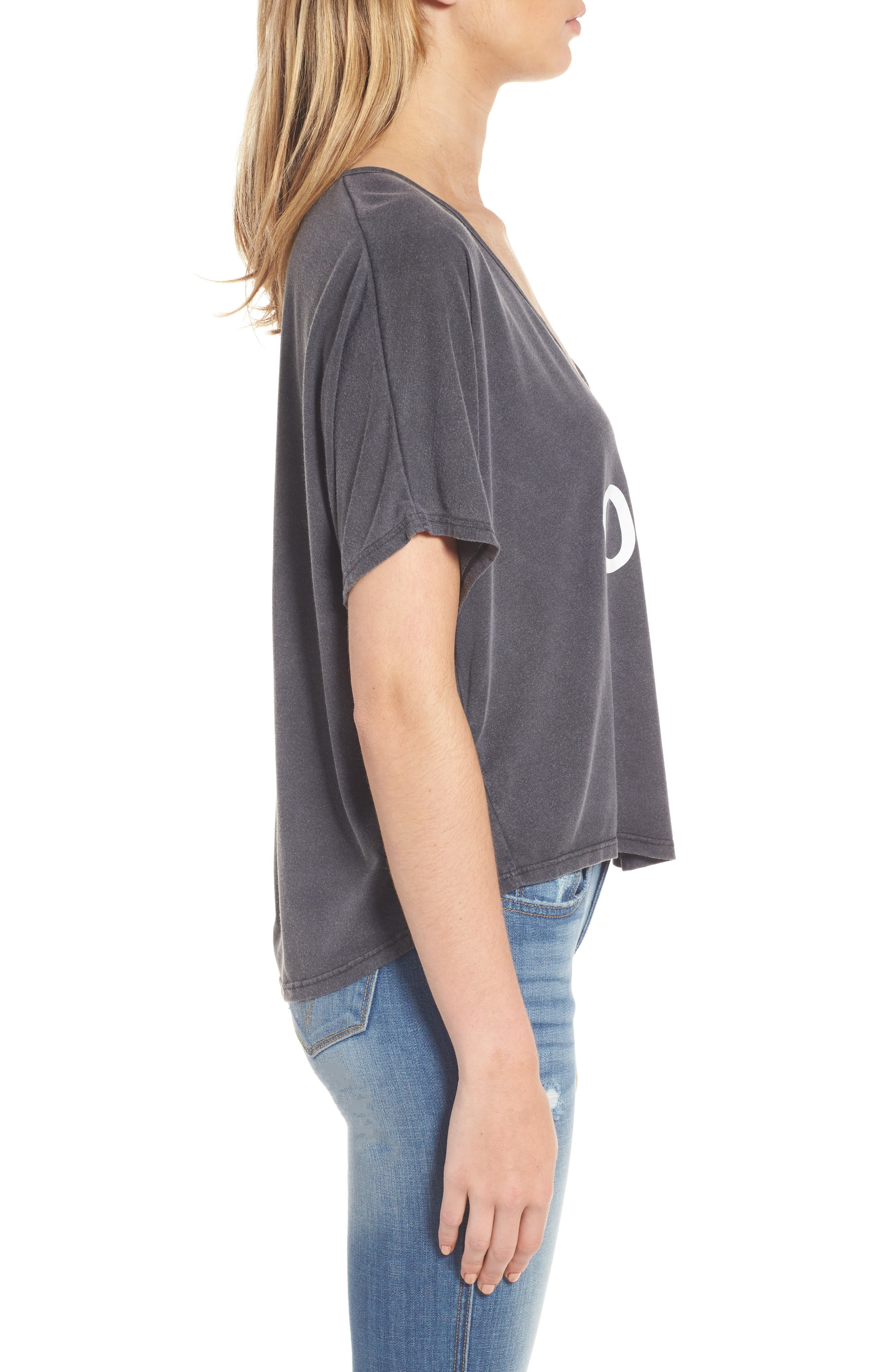Billy Bob Crop Tee,                             Alternate thumbnail 3, color,                             Ombre